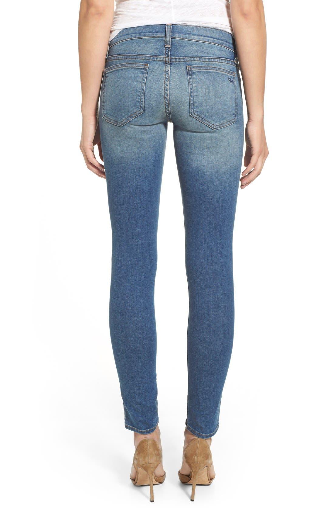 REBECCA MINKOFF, 'Jane' Skinny Jeans, Alternate thumbnail 2, color, 400