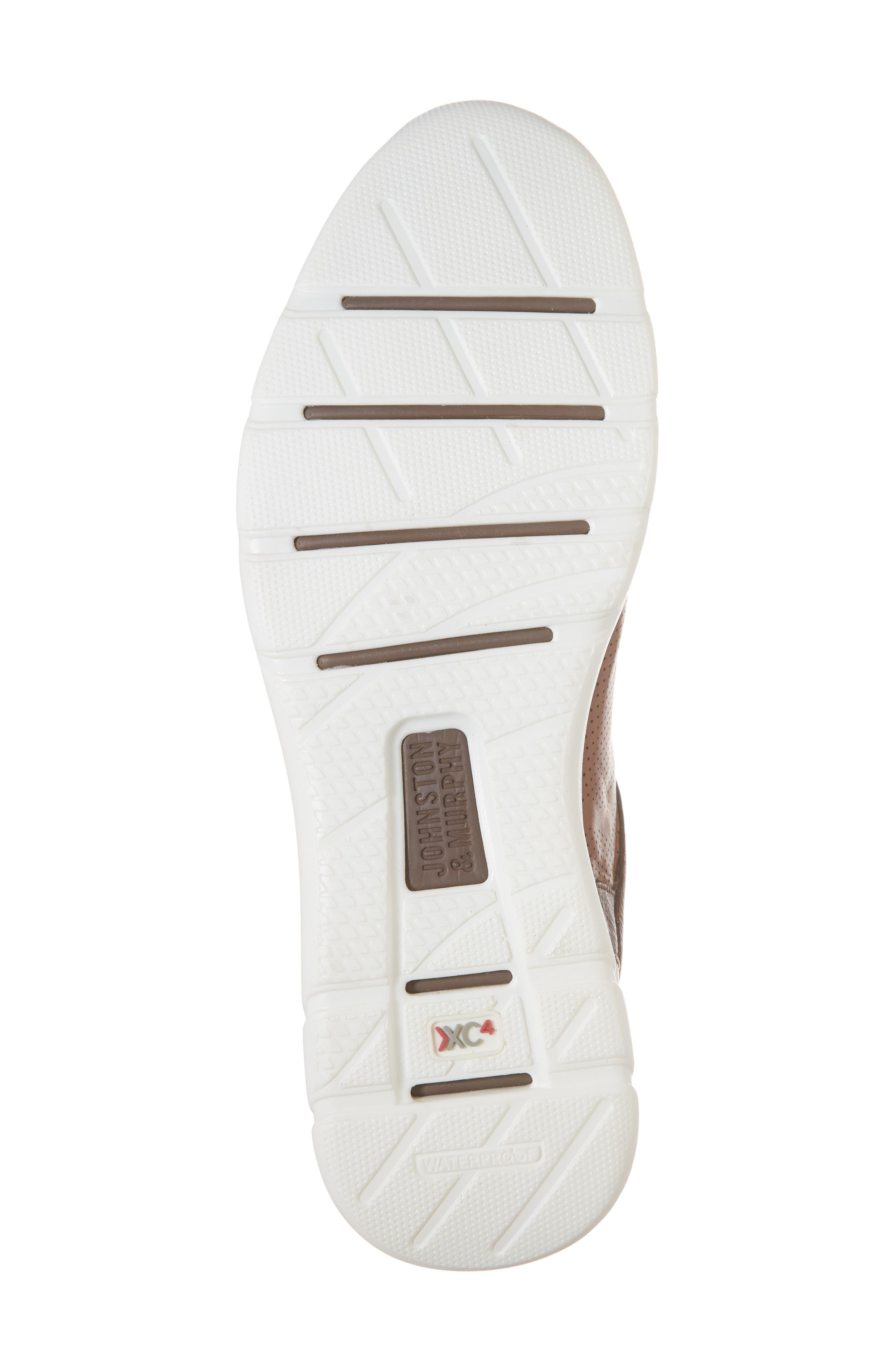 JOHNSTON & MURPHY, Prentiss XC4<sup>®</sup> Waterproof Sneaker, Alternate thumbnail 6, color, MAHOGANY LEATHER