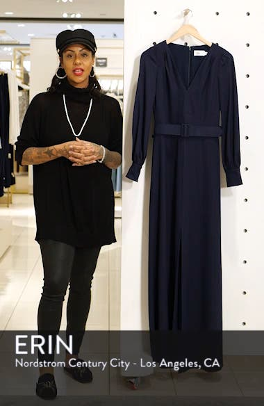 Long Sleeve Belted Gown, sales video thumbnail