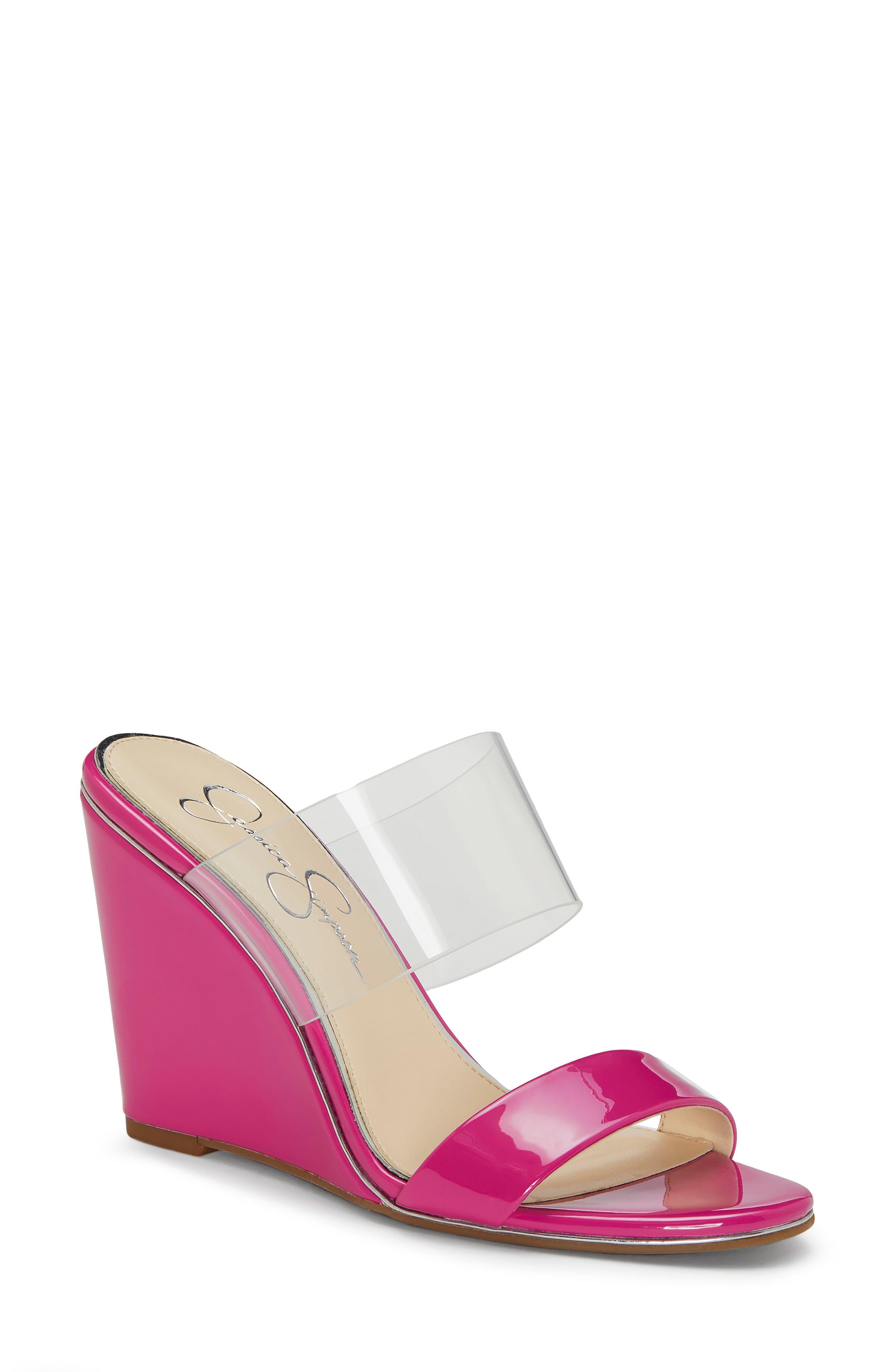Jessica Simpson Winsty Wedge Slide Sandal, Red