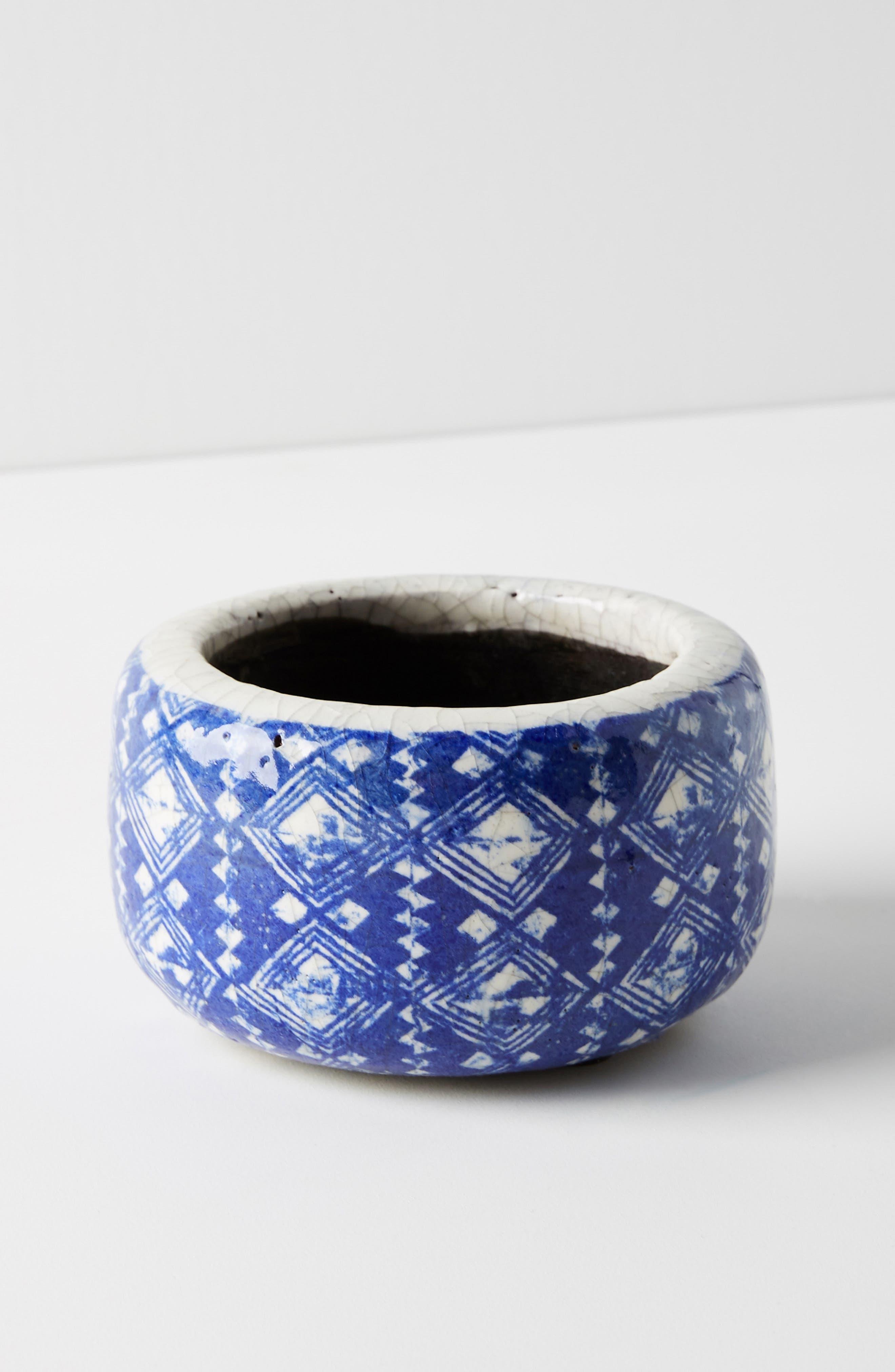 ANTHROPOLOGIE, Marnie Pot, Main thumbnail 1, color, BLUE