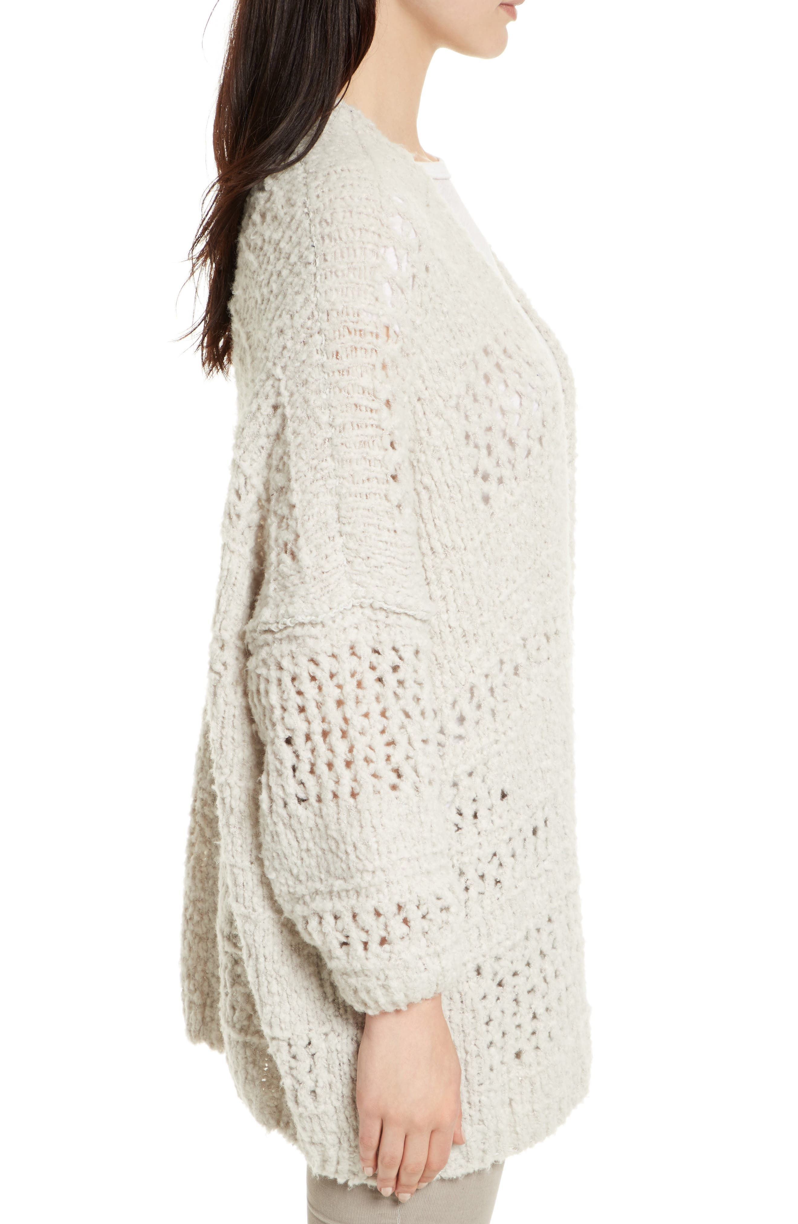 FREE PEOPLE, Saturday Morning Cardigan, Alternate thumbnail 3, color, 903