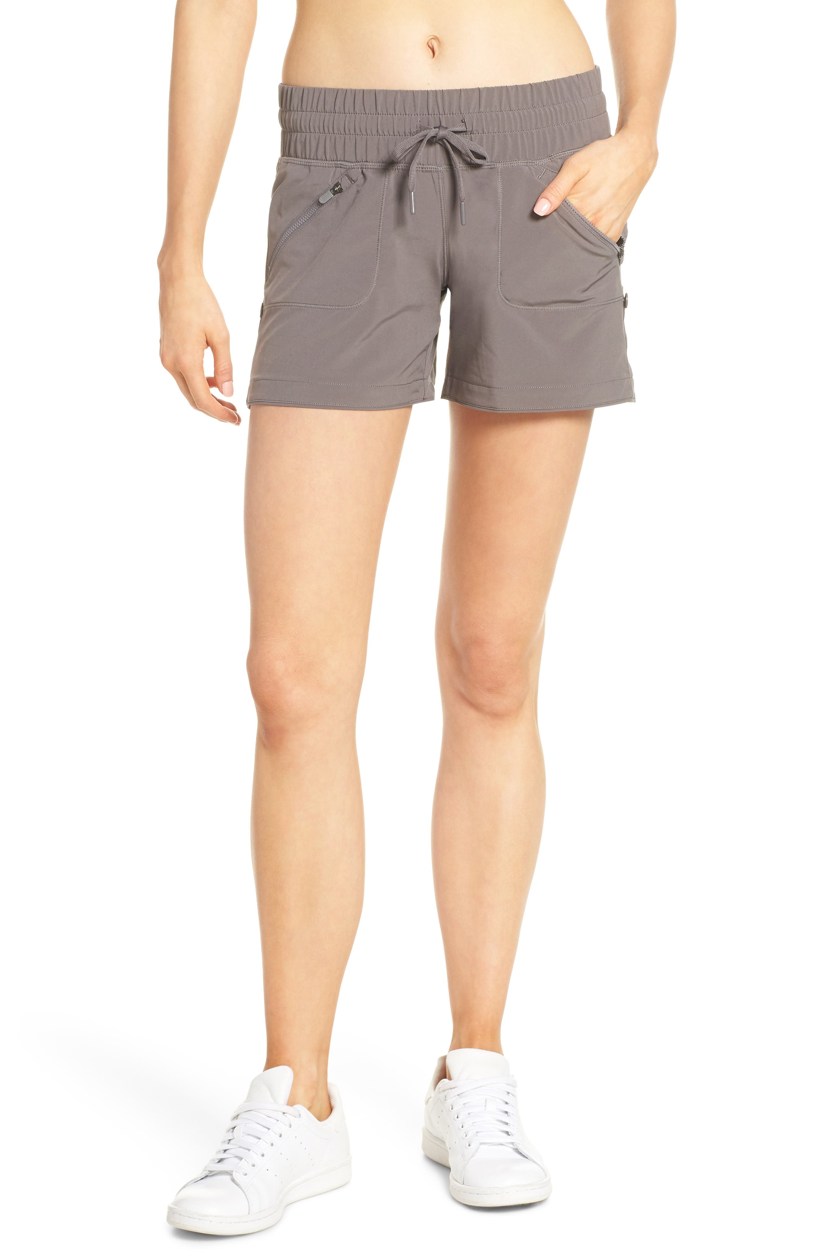 ZELLA Switchback Shorts, Main, color, GREY KITTEN