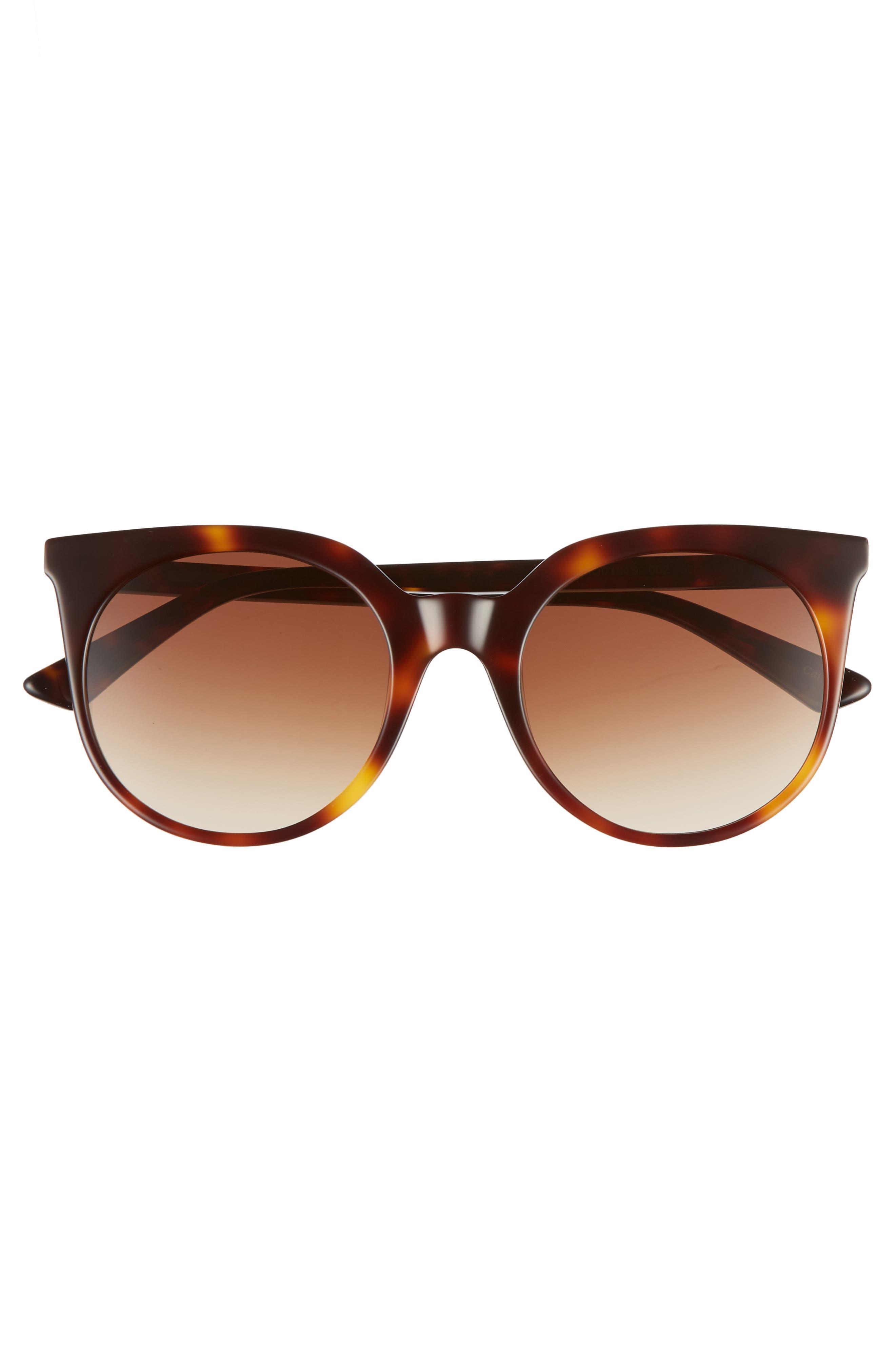 MCQ ALEXANDER MCQUEEN, 52mm Cat Eye Sunglasses, Alternate thumbnail 3, color, HAVANA