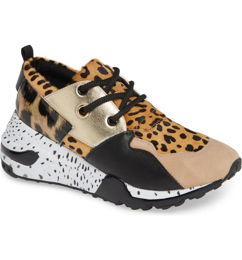 9f954420a55 Steve Madden Cliff Sneaker In Animal Print Calf Hair