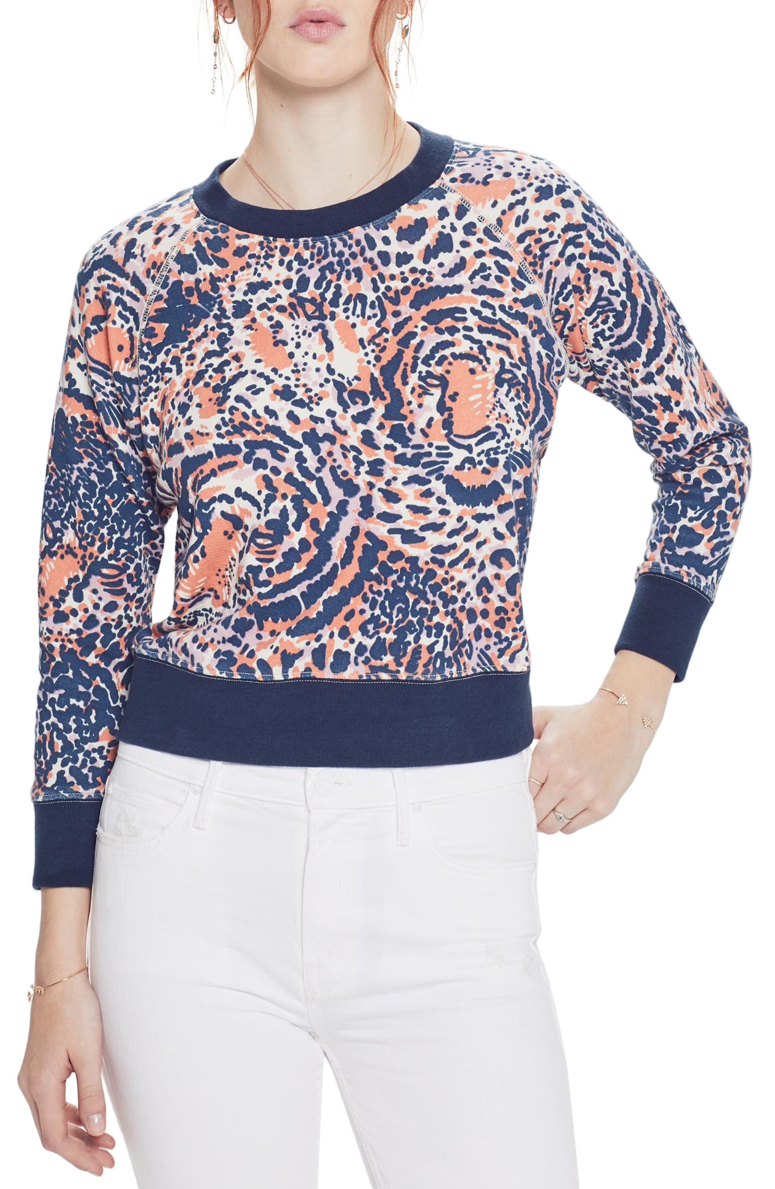 MOTHER The Square Sweatshirt, Main, color, CUB CLUB