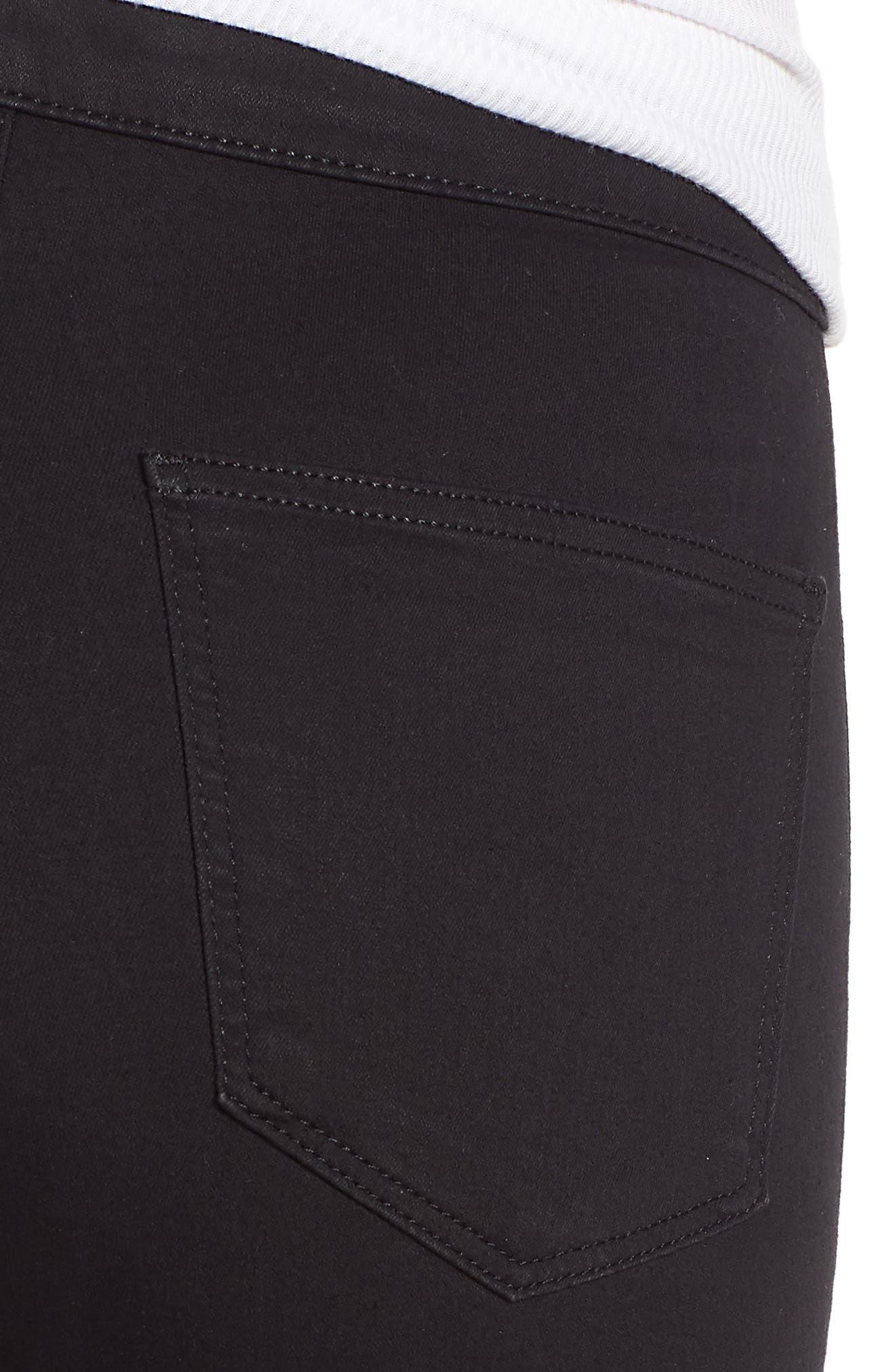 TOPSHOP, Joni Jeans, Alternate thumbnail 5, color, BLACK