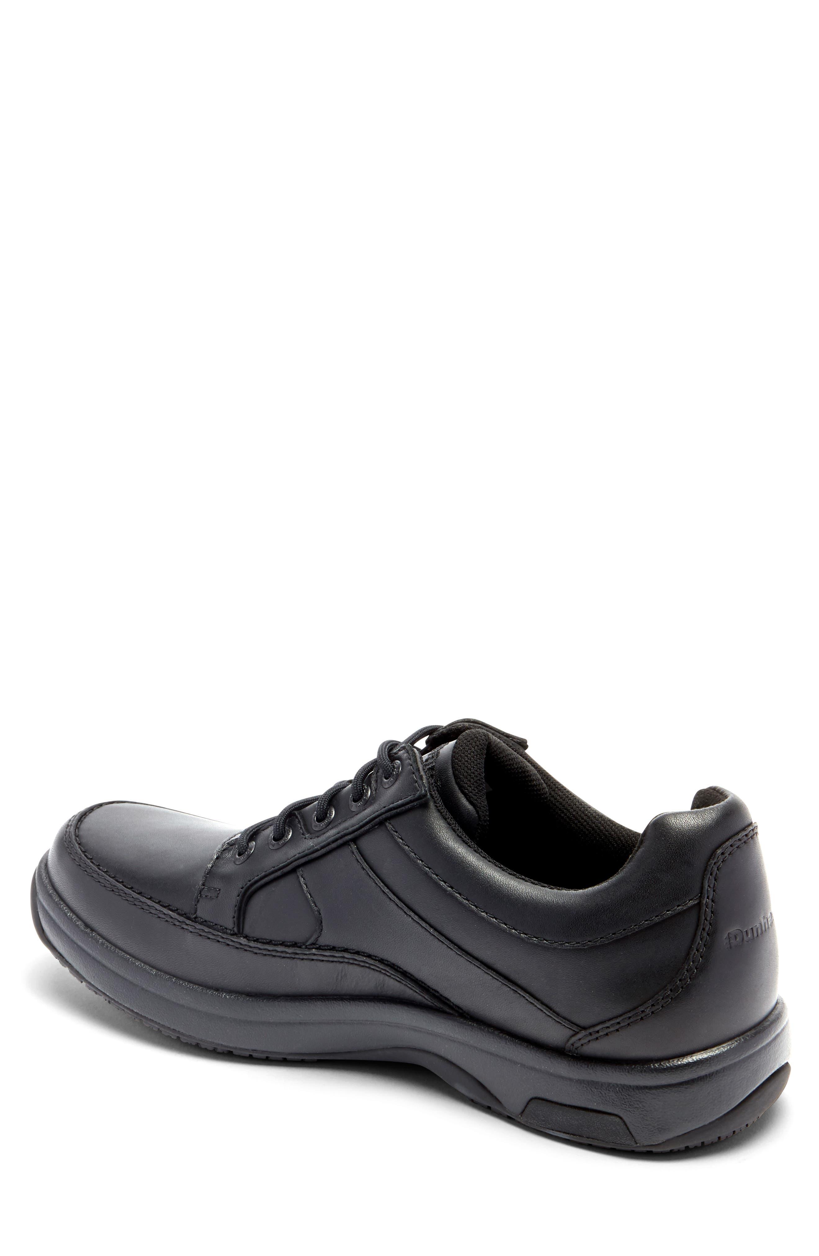 DUNHAM, 'Midland' Sneaker, Alternate thumbnail 2, color, BLACK LEATHER