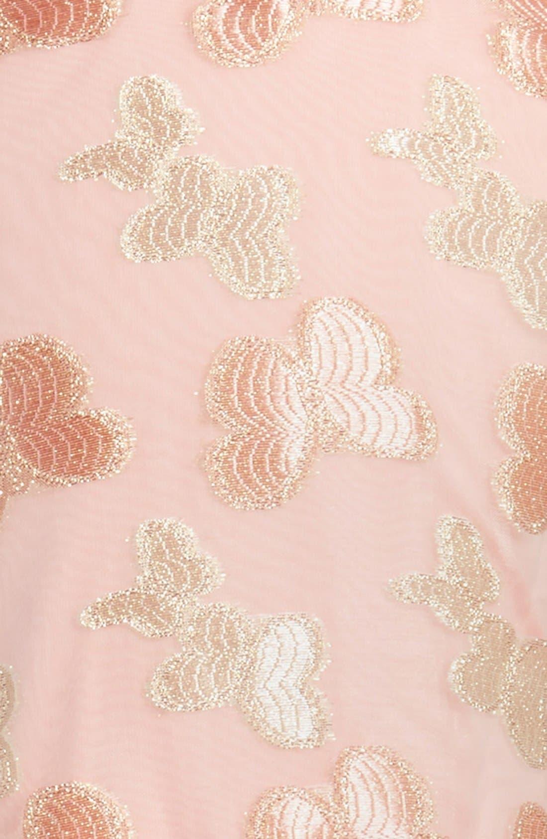 POPATU, 'Butterfly' Sleeveless Party Dress, Alternate thumbnail 2, color, PEACH