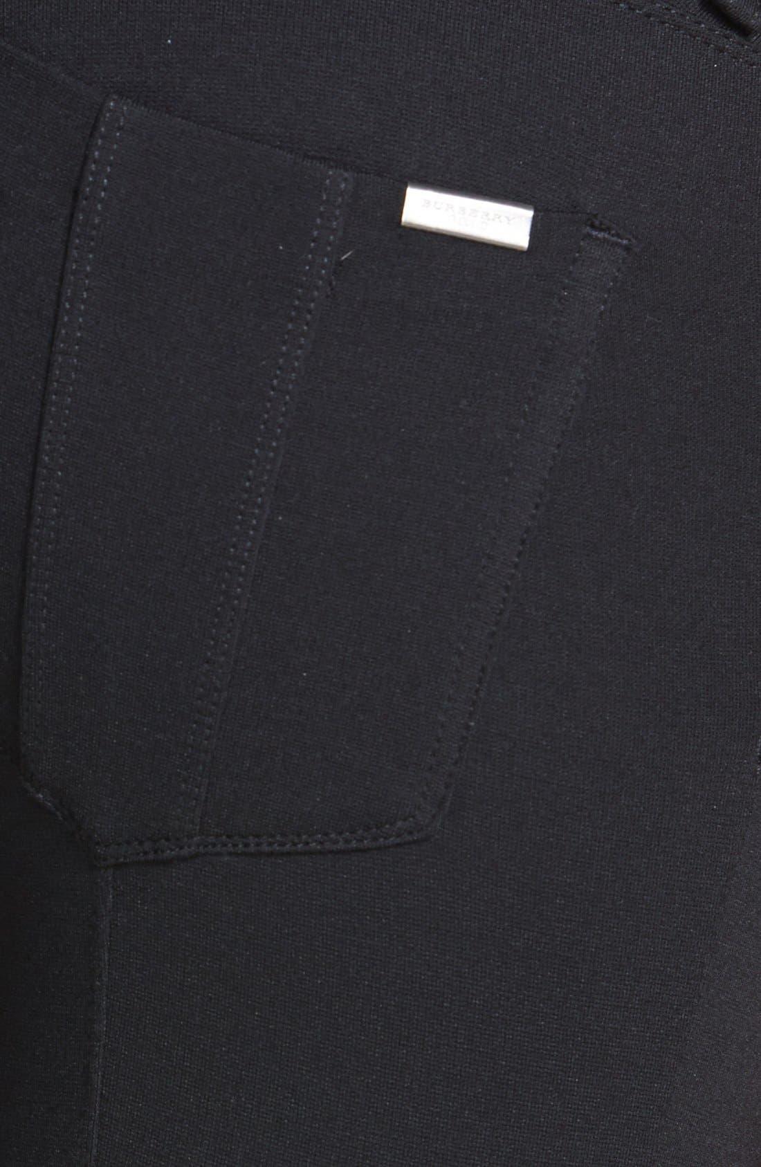 BURBERRY BRIT, Five-Pocket Pants, Alternate thumbnail 5, color, 001
