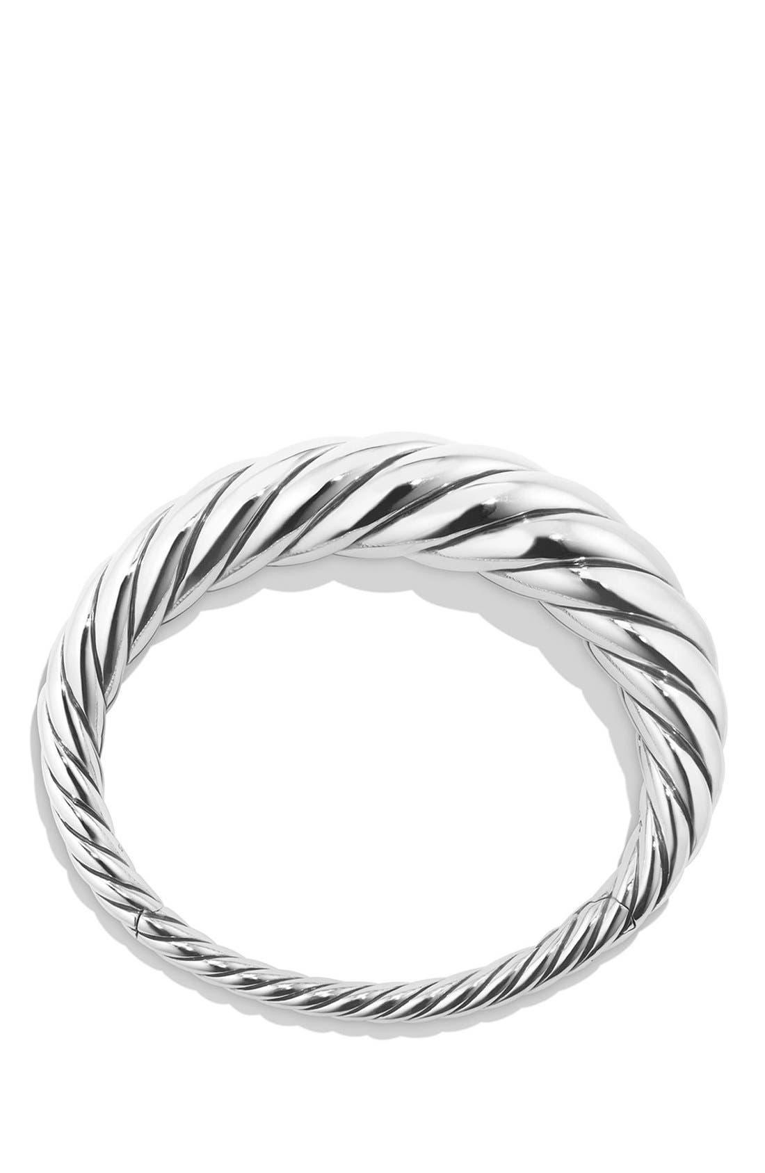 DAVID YURMAN, 'Pure Form' Cable Bracelet, Alternate thumbnail 2, color, SILVER