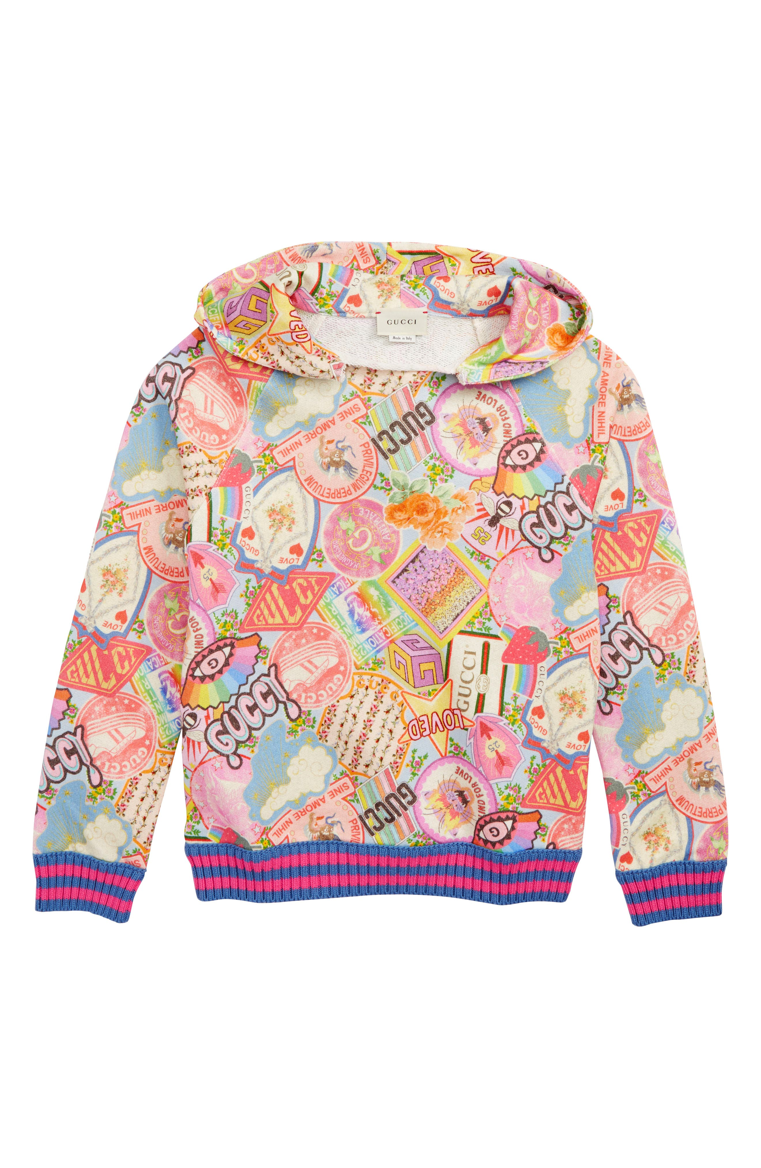 Girls Gucci Hoodie Size 6Y  Pink