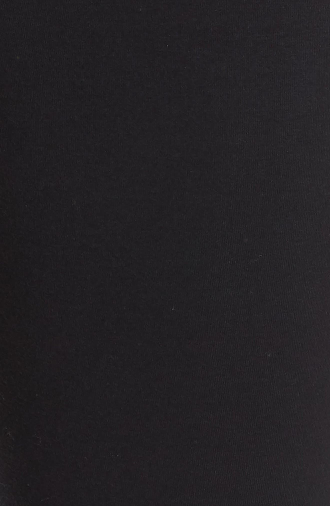 NIKE, Heritage Leggings, Alternate thumbnail 6, color, BLACK/ WHITE/ WHITE