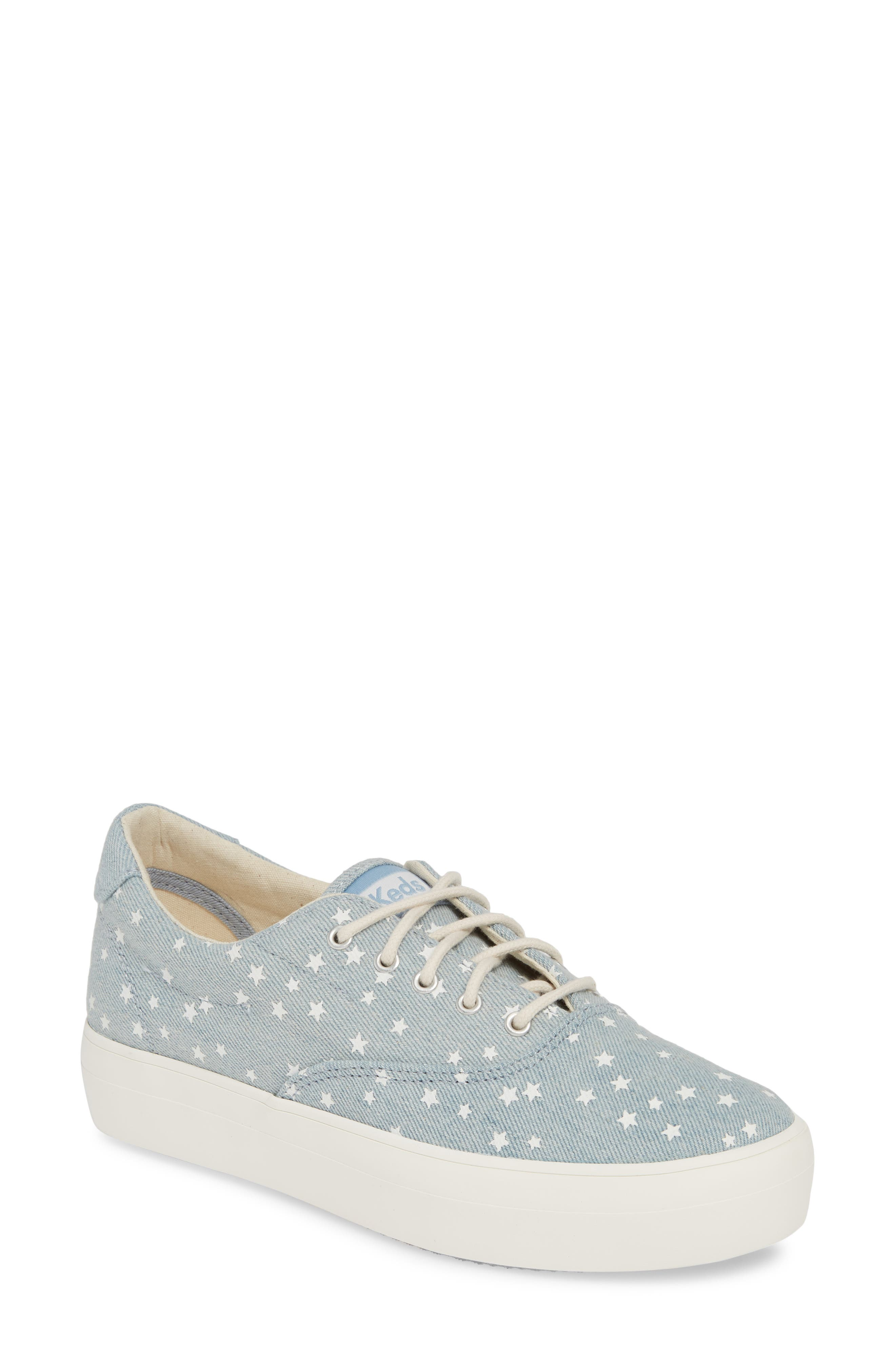 KEDS<SUP>®</SUP> Rise Denim Star Sneaker, Main, color, LIGHT BLUE