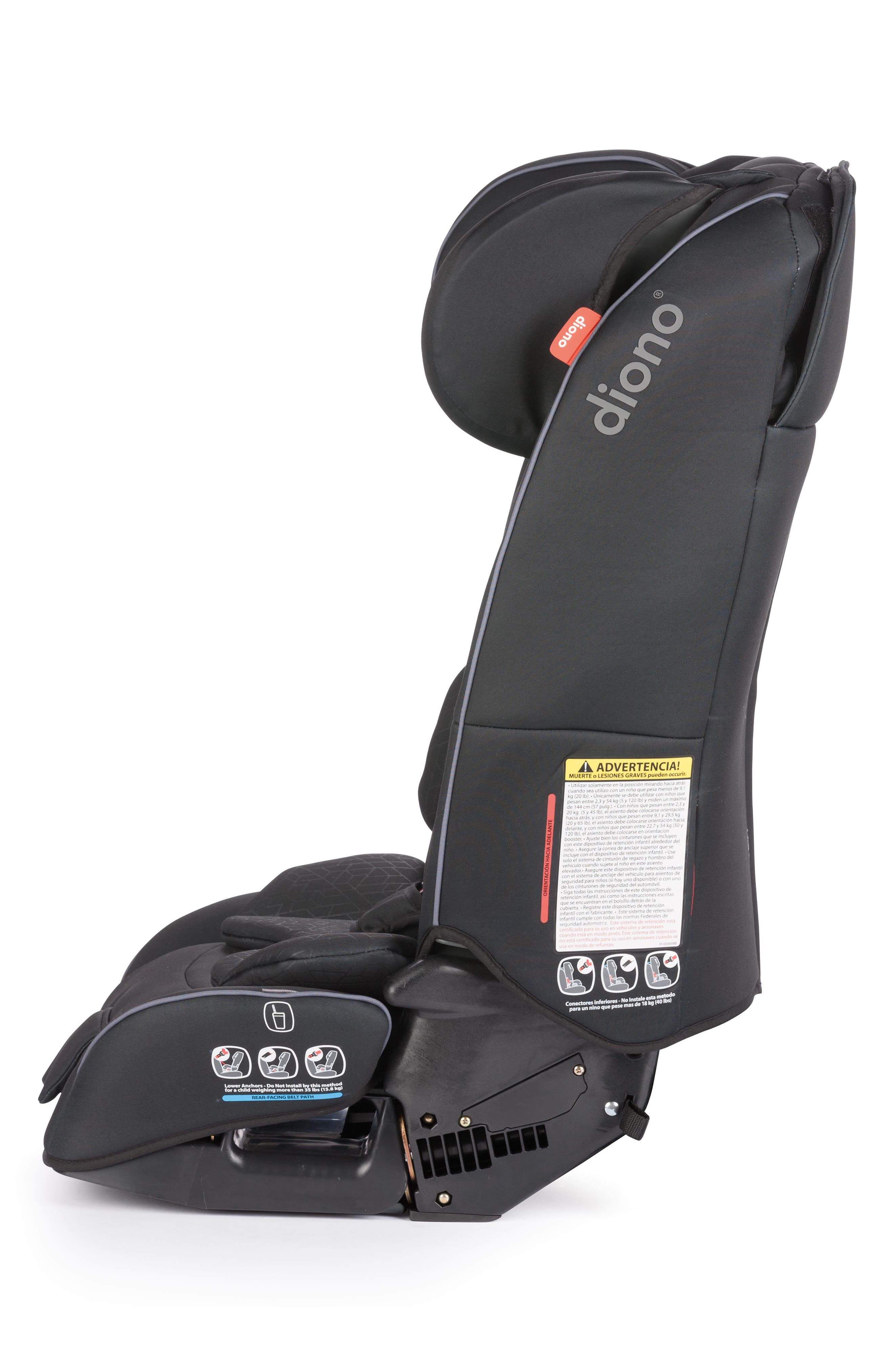 DIONO, radian<sup>®</sup> 3 rXT Rear & Forward Facing Car Seat, Alternate thumbnail 4, color, BLACK