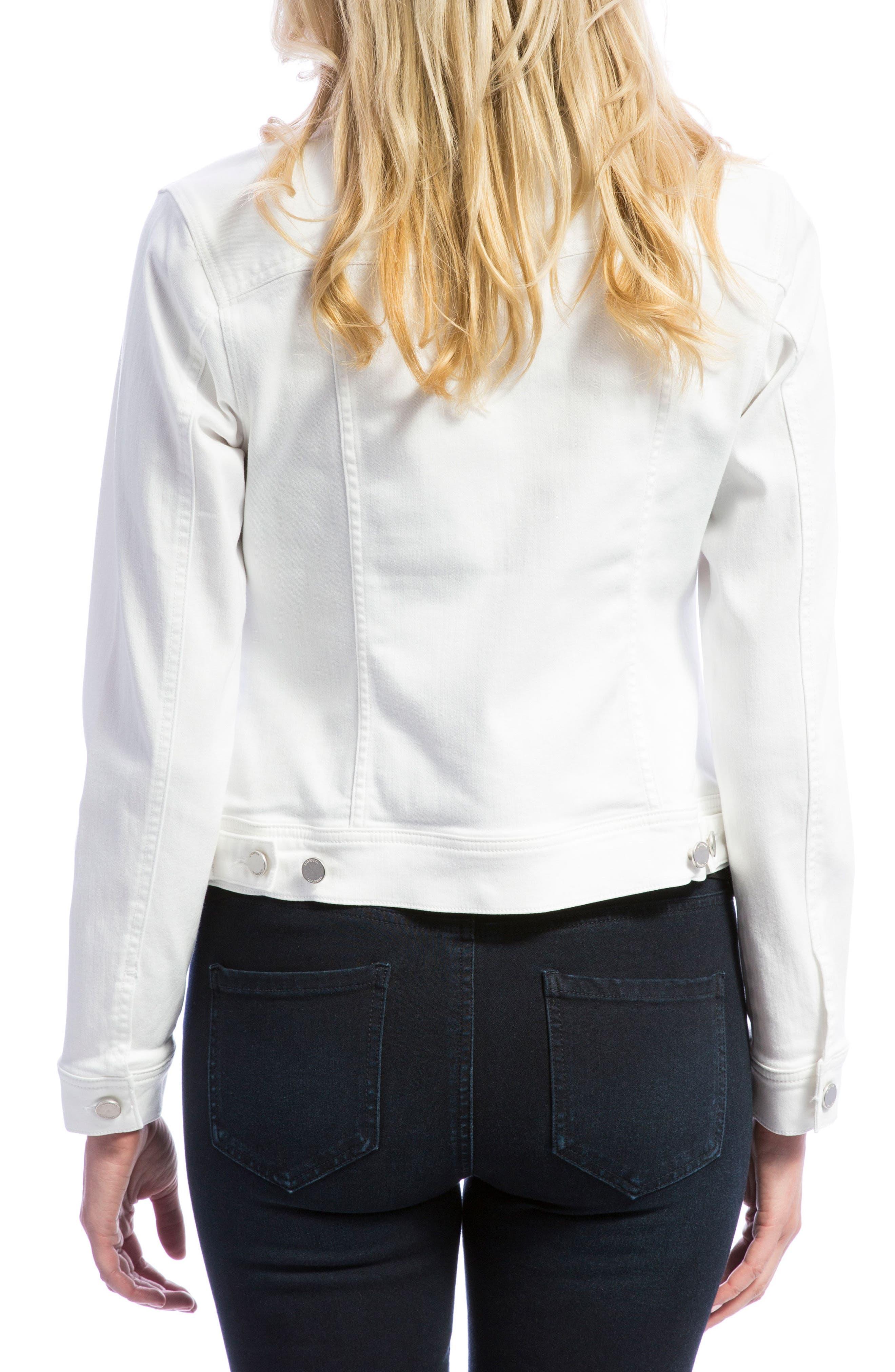 LIVERPOOL, Denim Jacket, Alternate thumbnail 2, color, BRIGHT WHITE