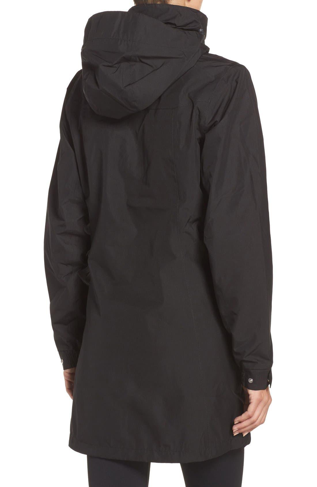 HELLY HANSEN, 'Aden' Helly Tech<sup>®</sup> Raincoat, Alternate thumbnail 5, color, BLACK