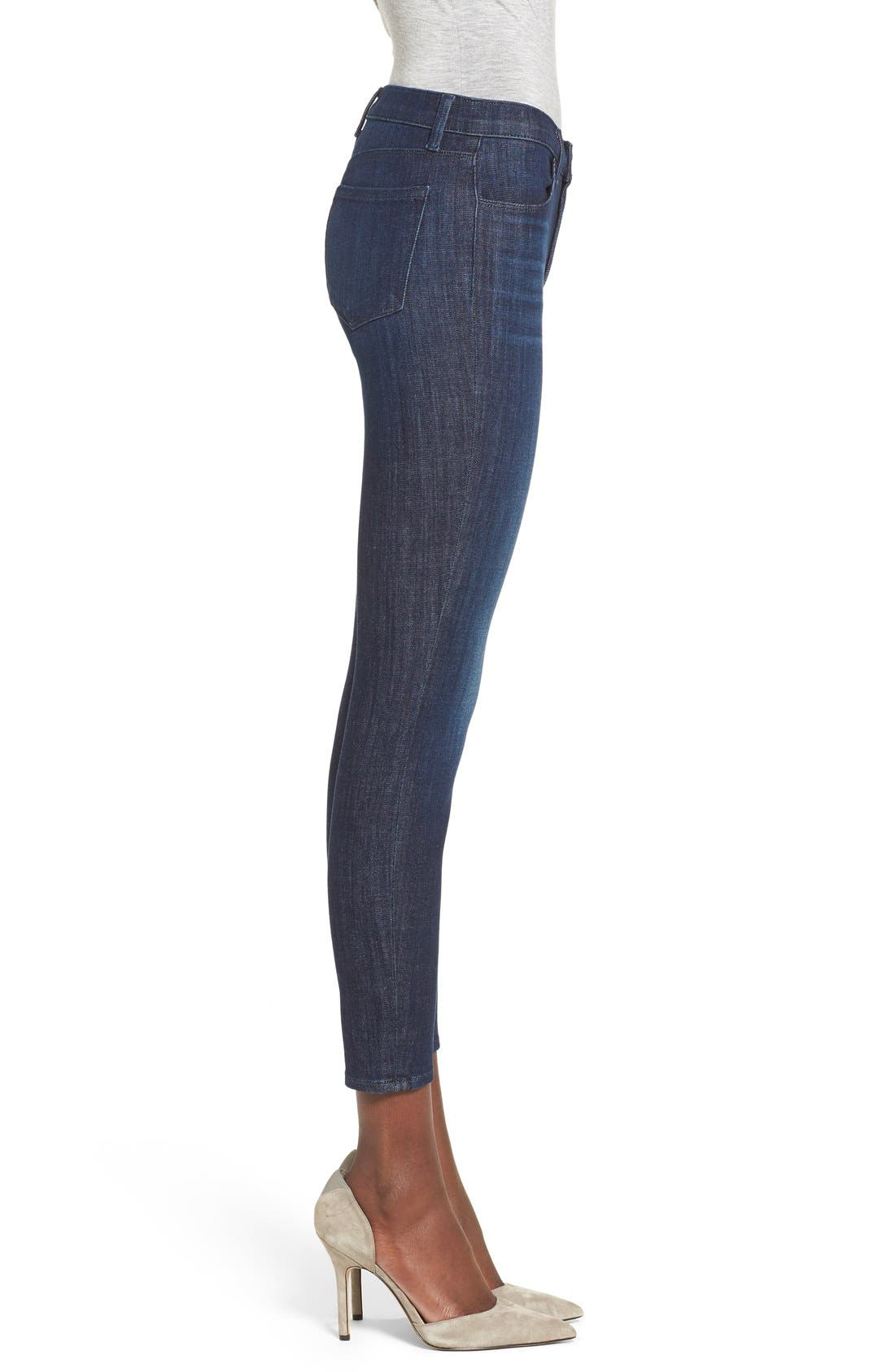 J BRAND, Alana Ripped High Rise Crop Skinny Jeans, Alternate thumbnail 2, color, 408