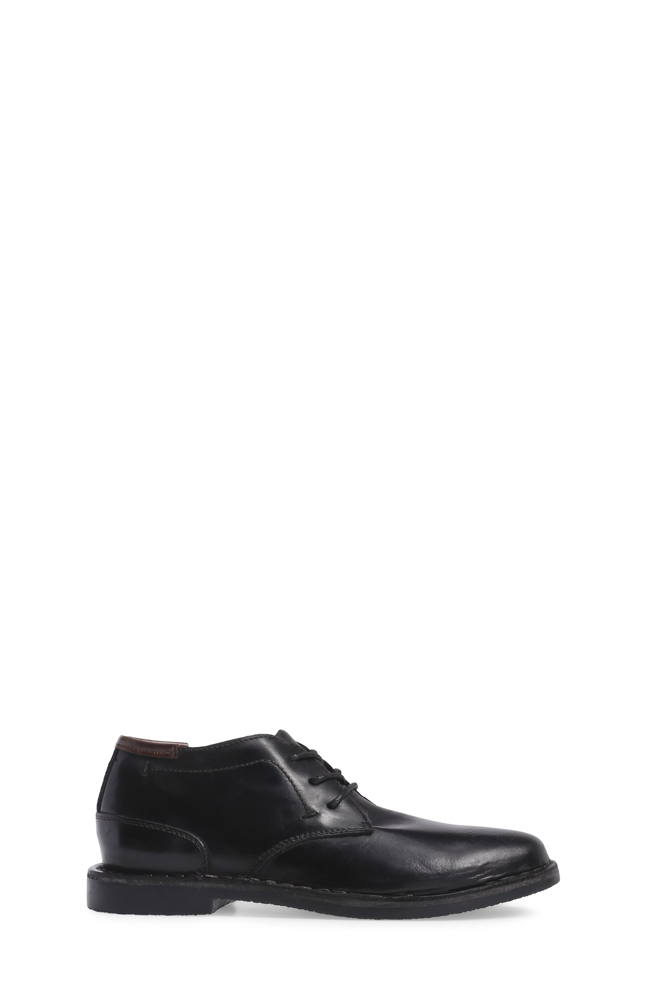 KENNETH COLE NEW YORK, Real Deal Chukka Boot, Alternate thumbnail 3, color, BLACK LEATHER