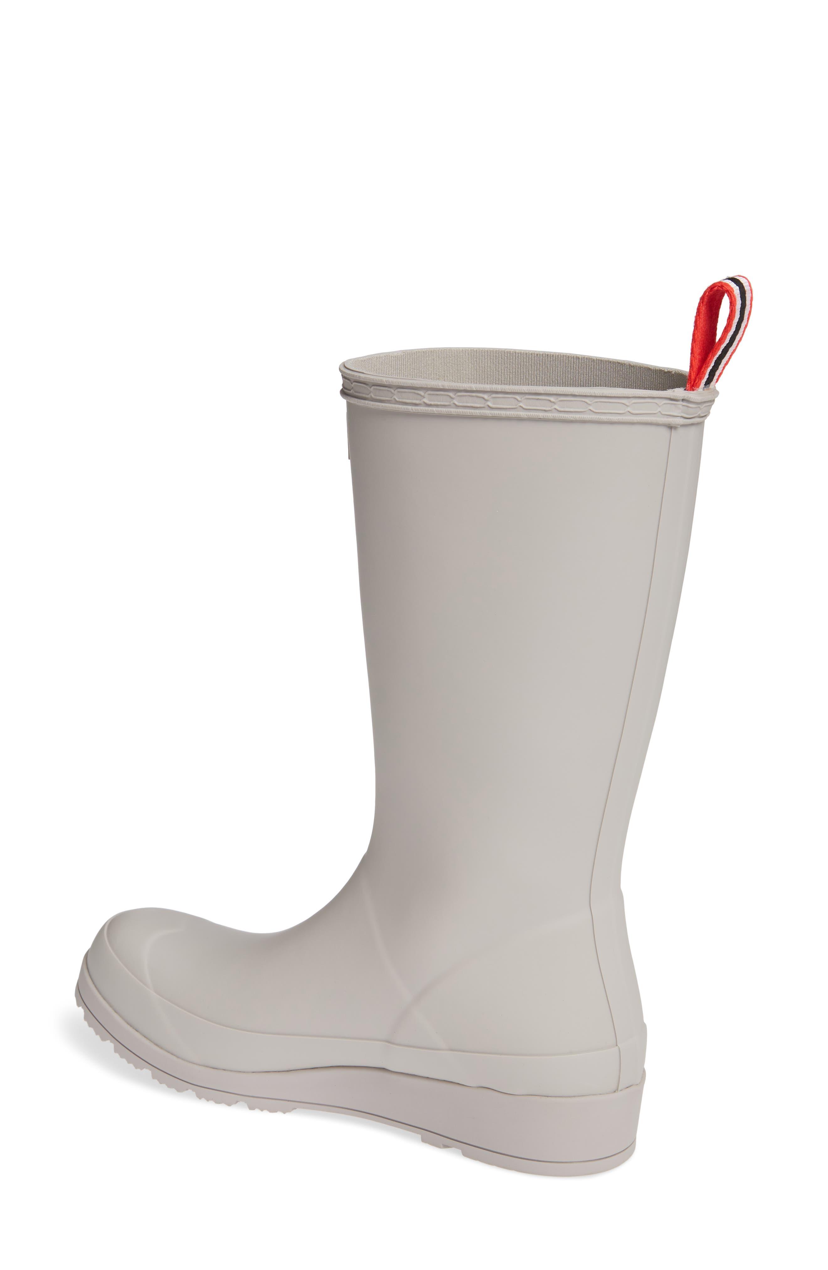 HUNTER, Original Play Tall Waterproof Rain Boot, Alternate thumbnail 2, color, ZINC