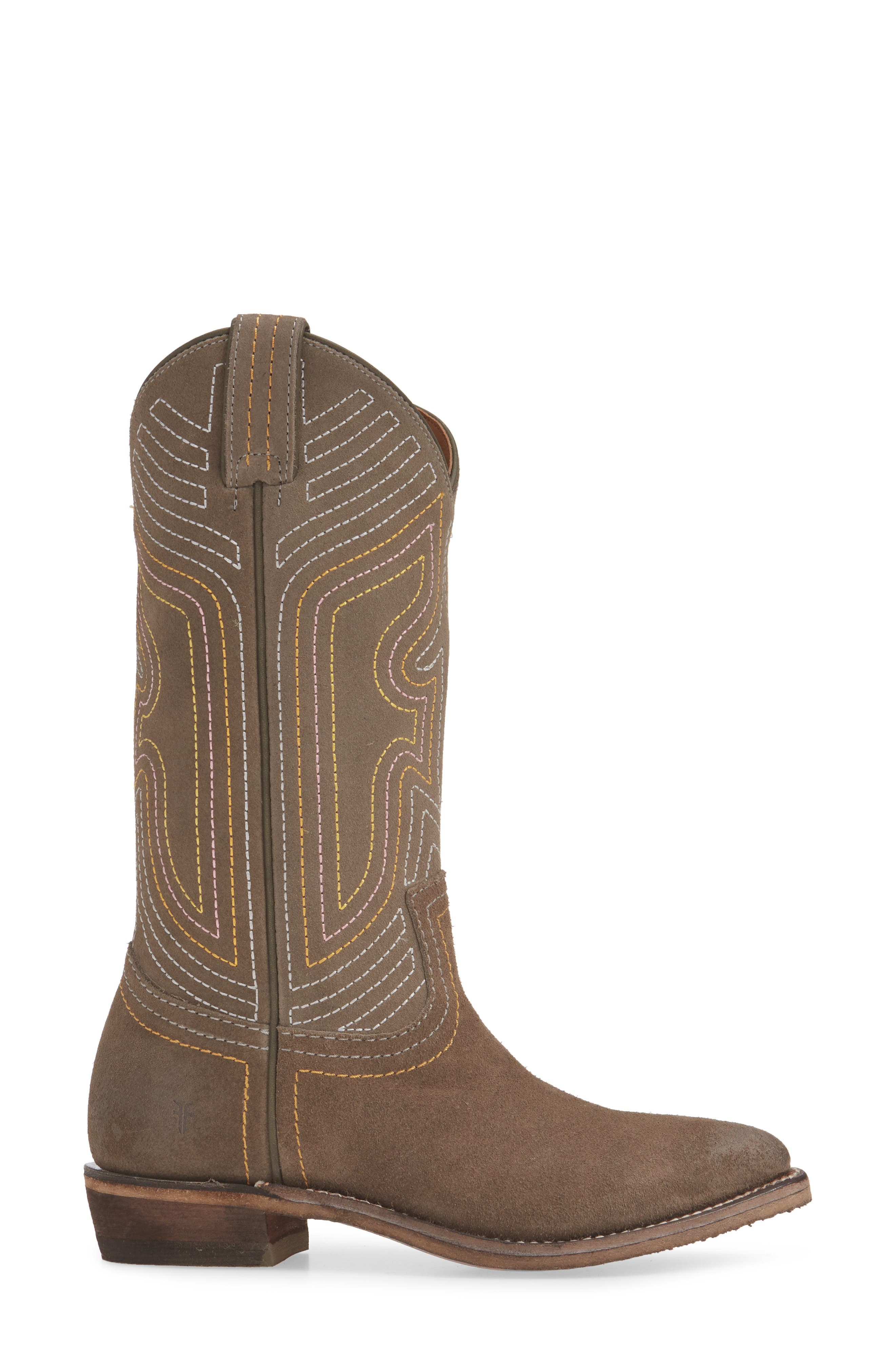 FRYE, Billy Western Boot, Alternate thumbnail 3, color, ELEPHANT