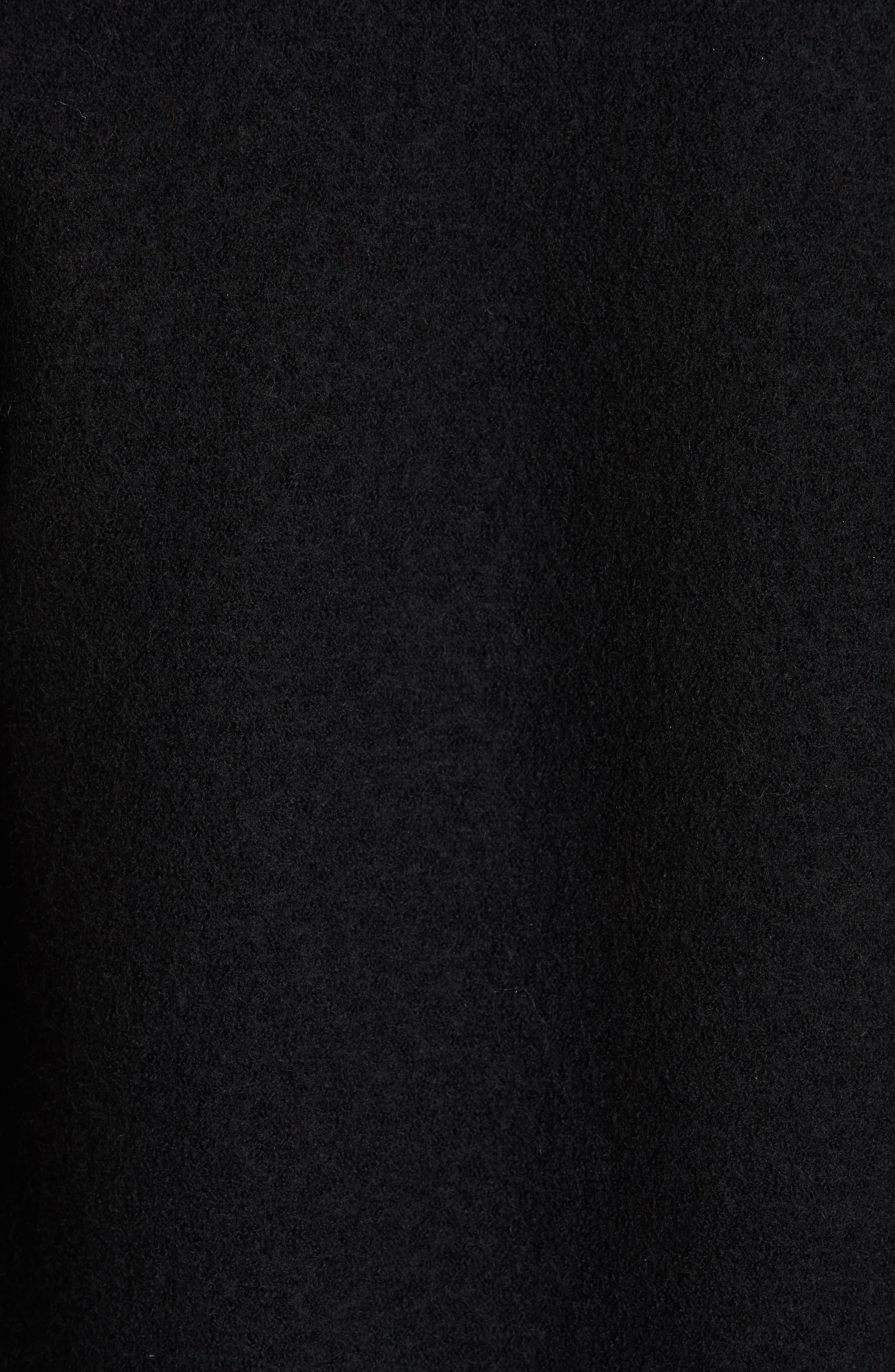HARRIS WHARF LONDON, Belted Wool Coat, Alternate thumbnail 7, color, BLACK