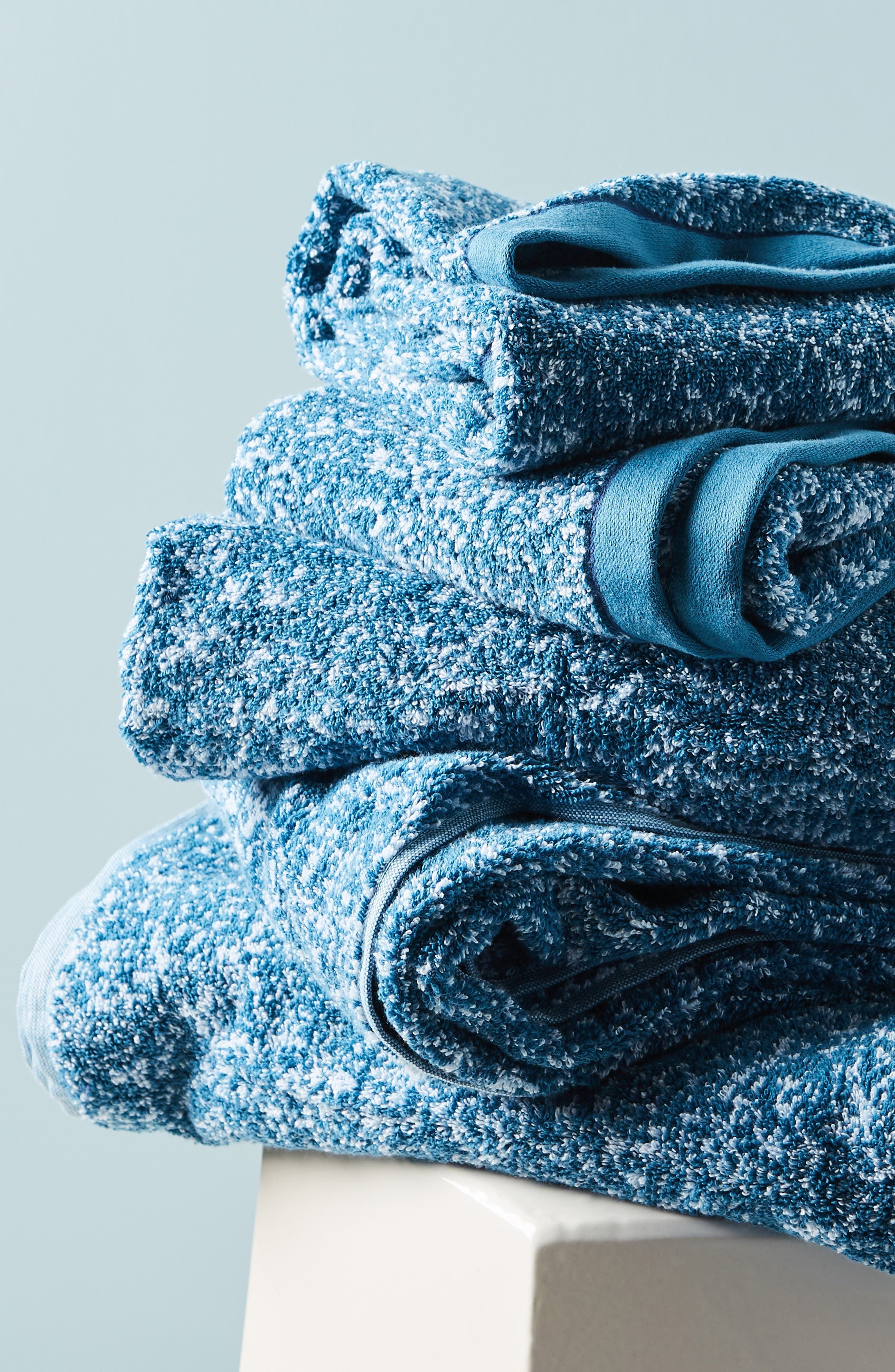 ANTHROPOLOGIE, Mairade Hand Towel, Alternate thumbnail 4, color, TEAL