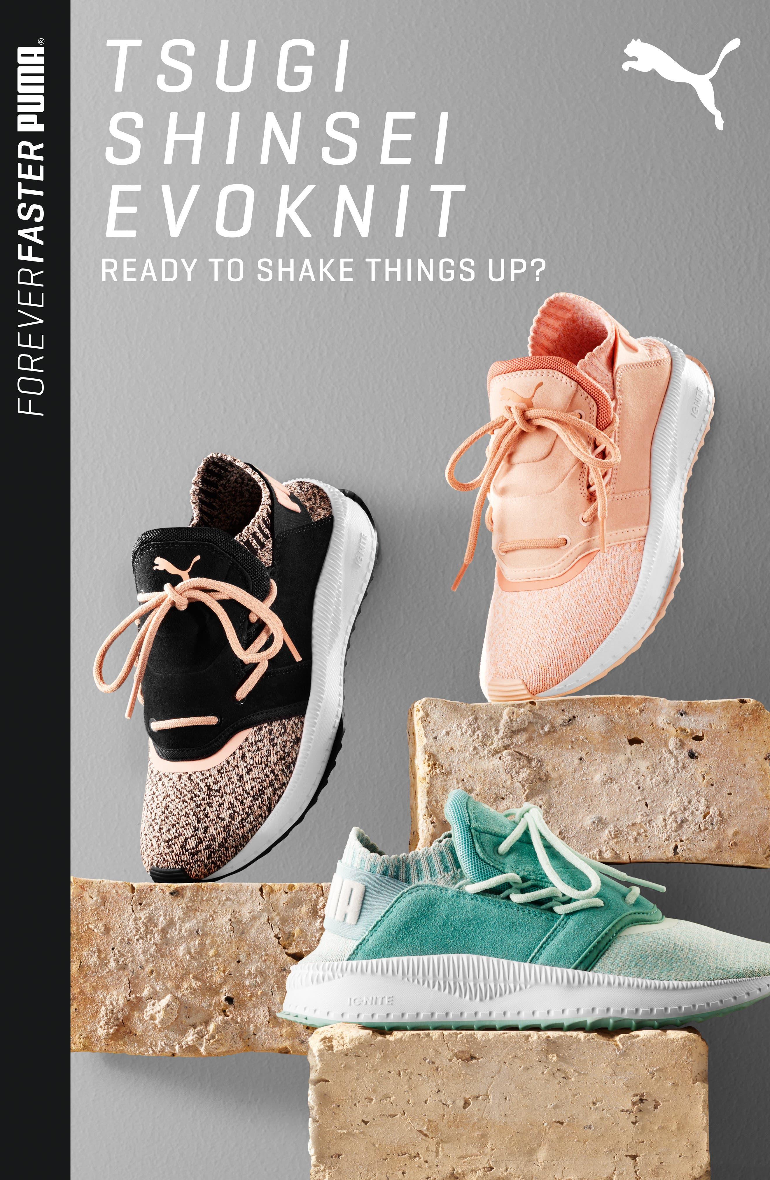 PUMA, IGNITE Flash evoKNIT Training Shoe, Alternate thumbnail 7, color, 001