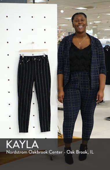 Stripe High Rise Skinny Jeans, sales video thumbnail