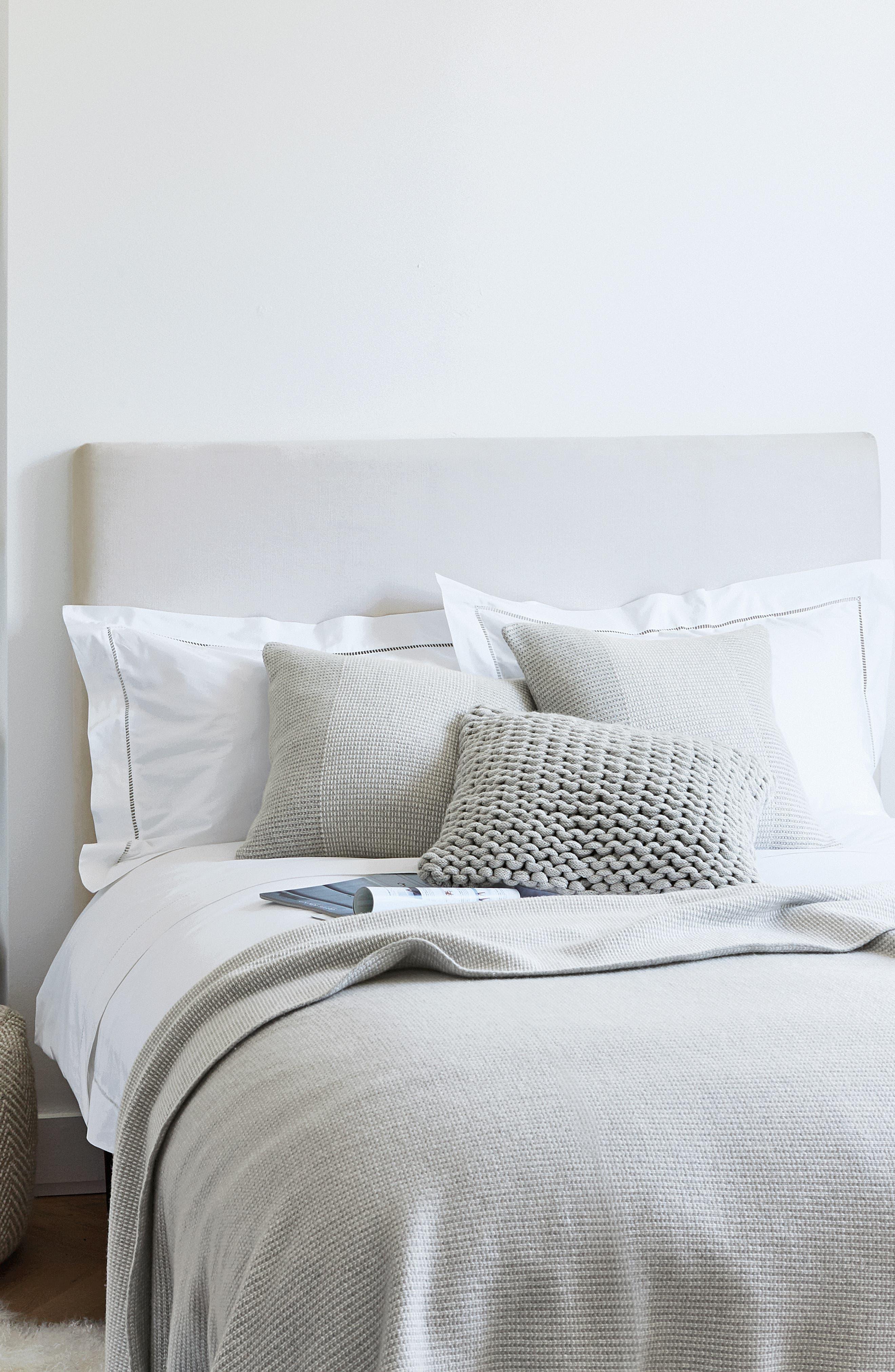 THE WHITE COMPANY, Santorini Cotton Flat Sheet, Alternate thumbnail 3, color, WHITE