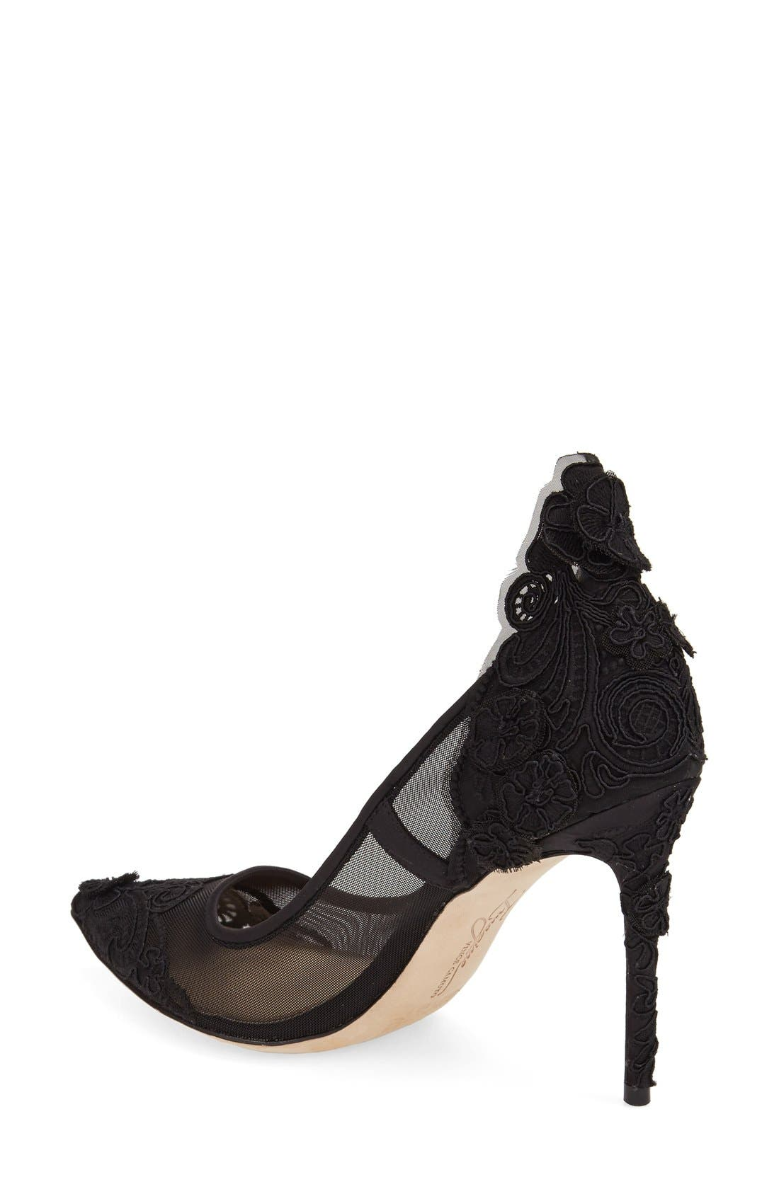 IMAGINE BY VINCE CAMUTO, 'Ophelia' Pointy Toe Pump, Alternate thumbnail 2, color, 001