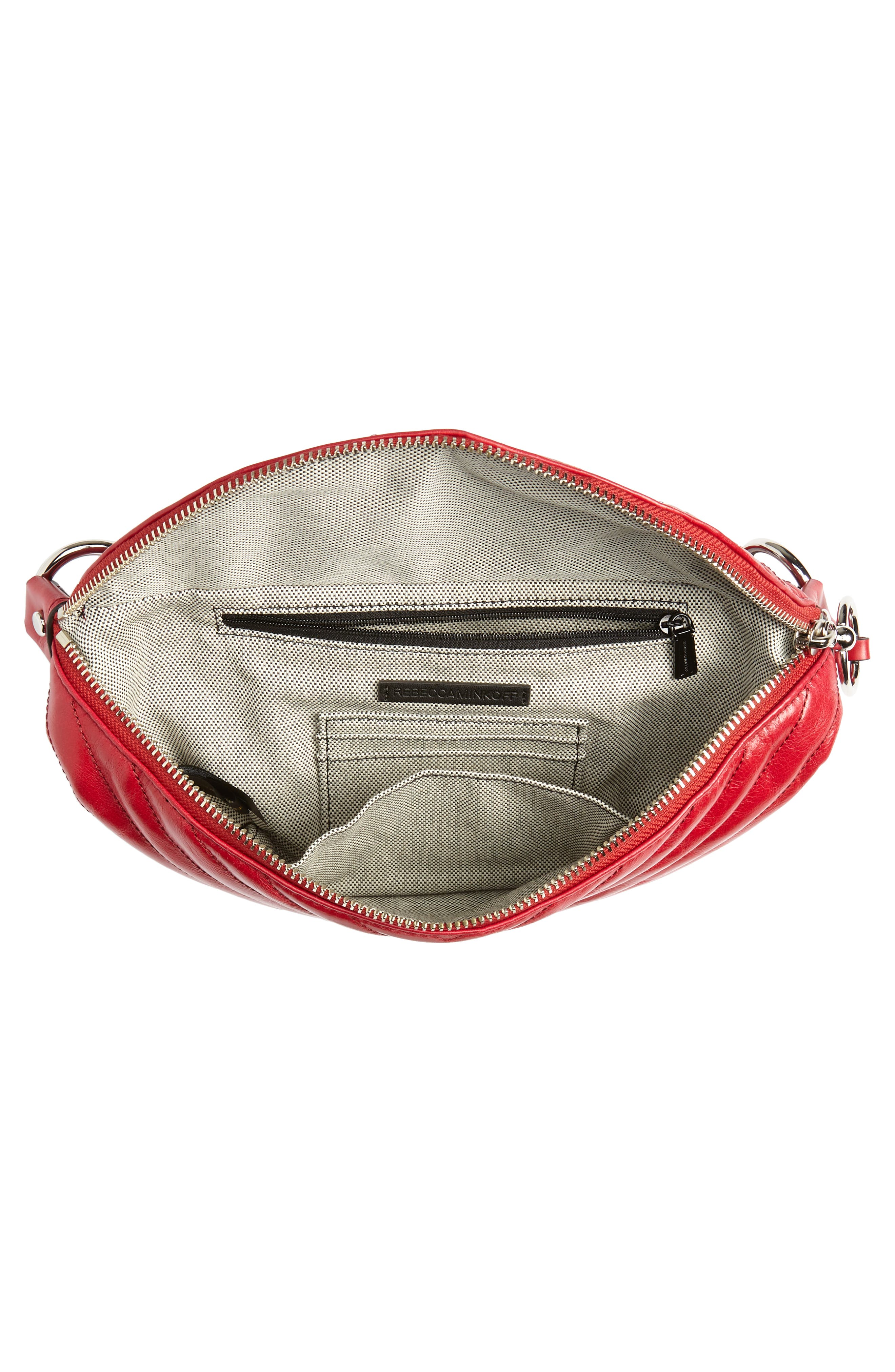 REBECCA MINKOFF, Edie Leather Belt Bag, Alternate thumbnail 6, color, 600