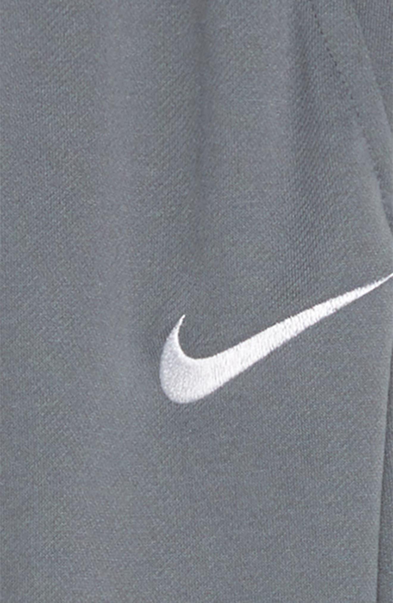NIKE, Dry Fleece Training Pants, Alternate thumbnail 2, color, COOL GREY/ WHITE