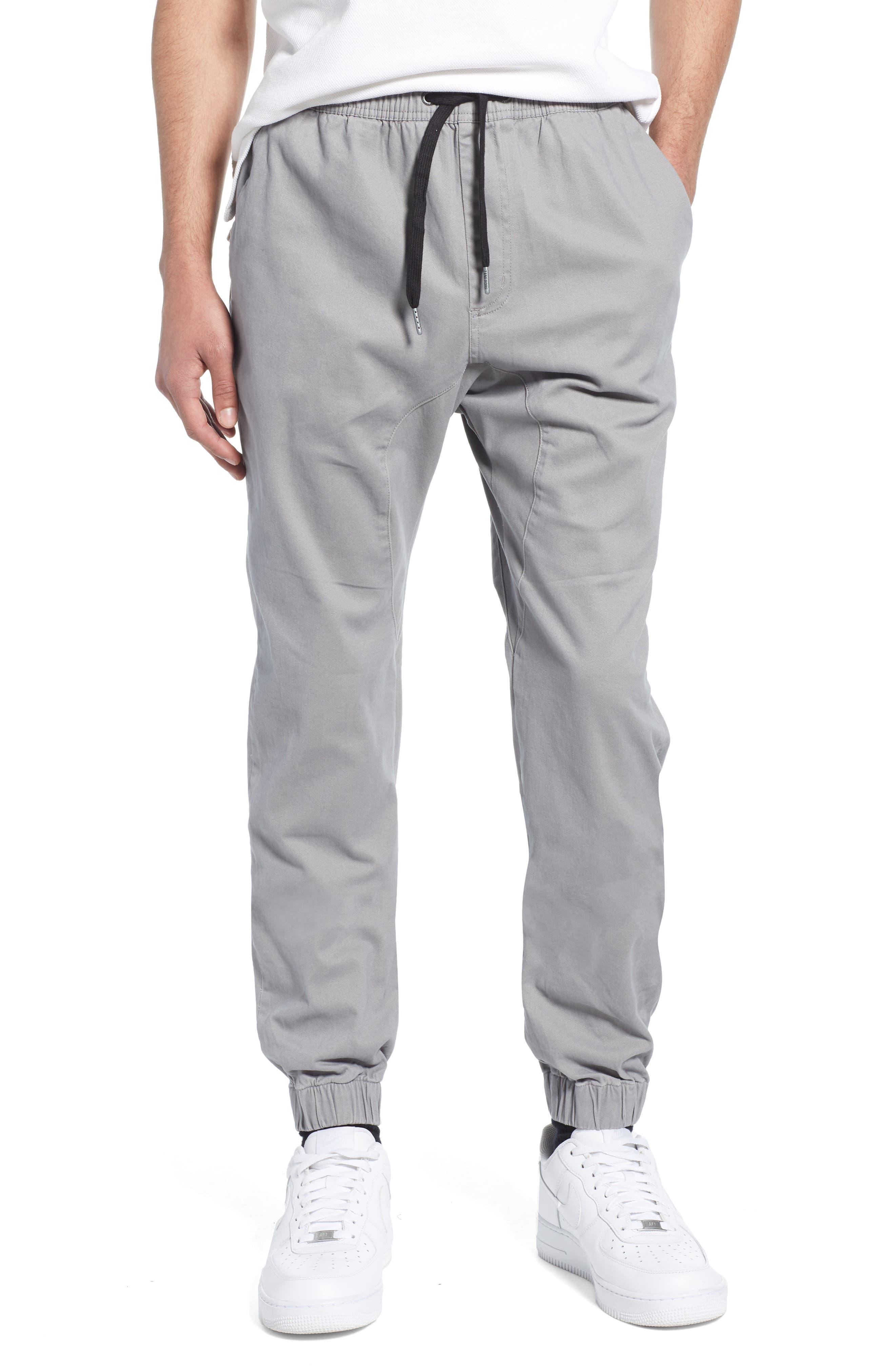 ZANEROBE Sureshot Jogger Pants, Main, color, CEMENT
