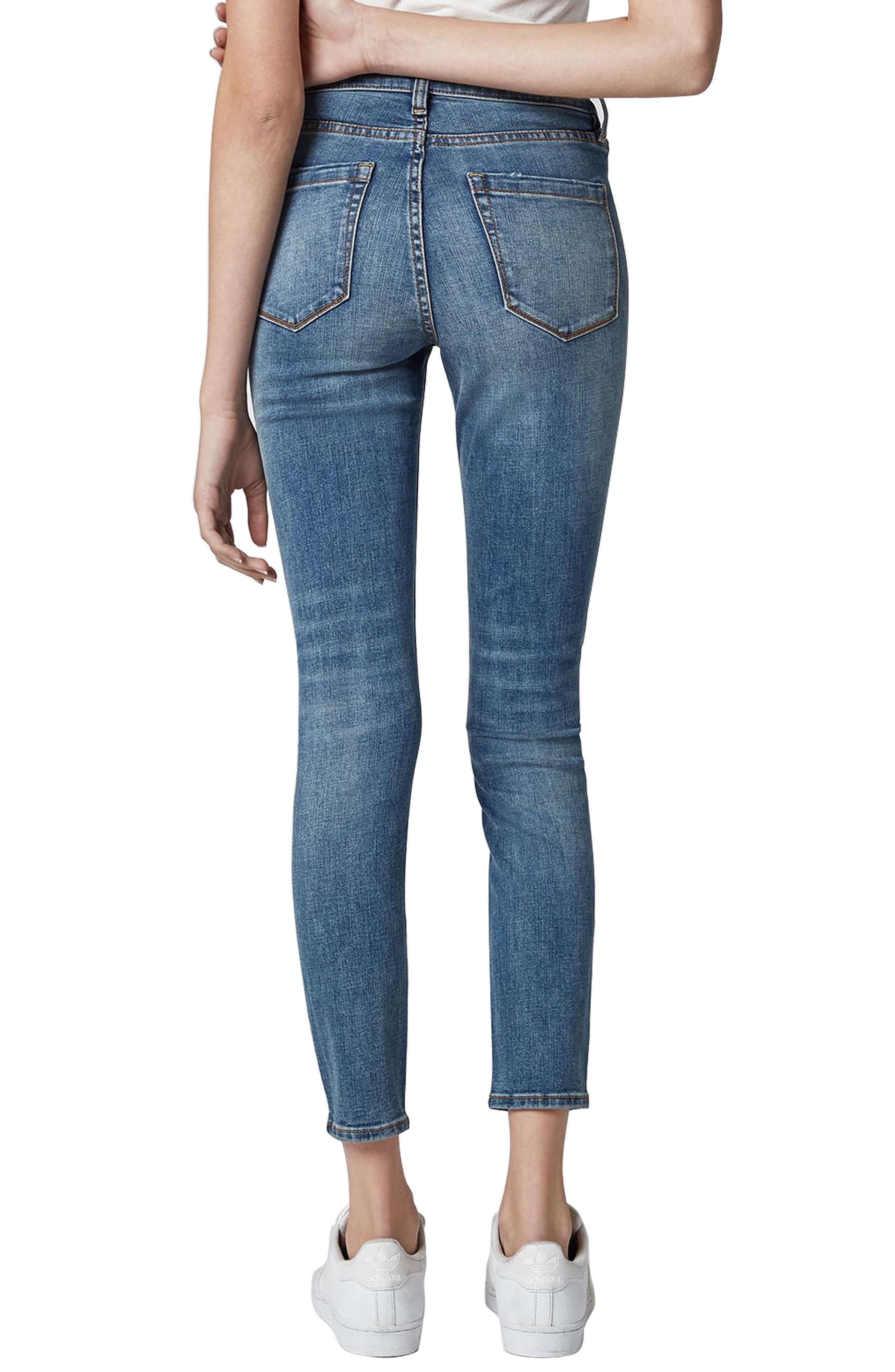 BLANKNYC, The Bond Ripped Skinny Jeans, Alternate thumbnail 2, color, JERSEY GIRLS