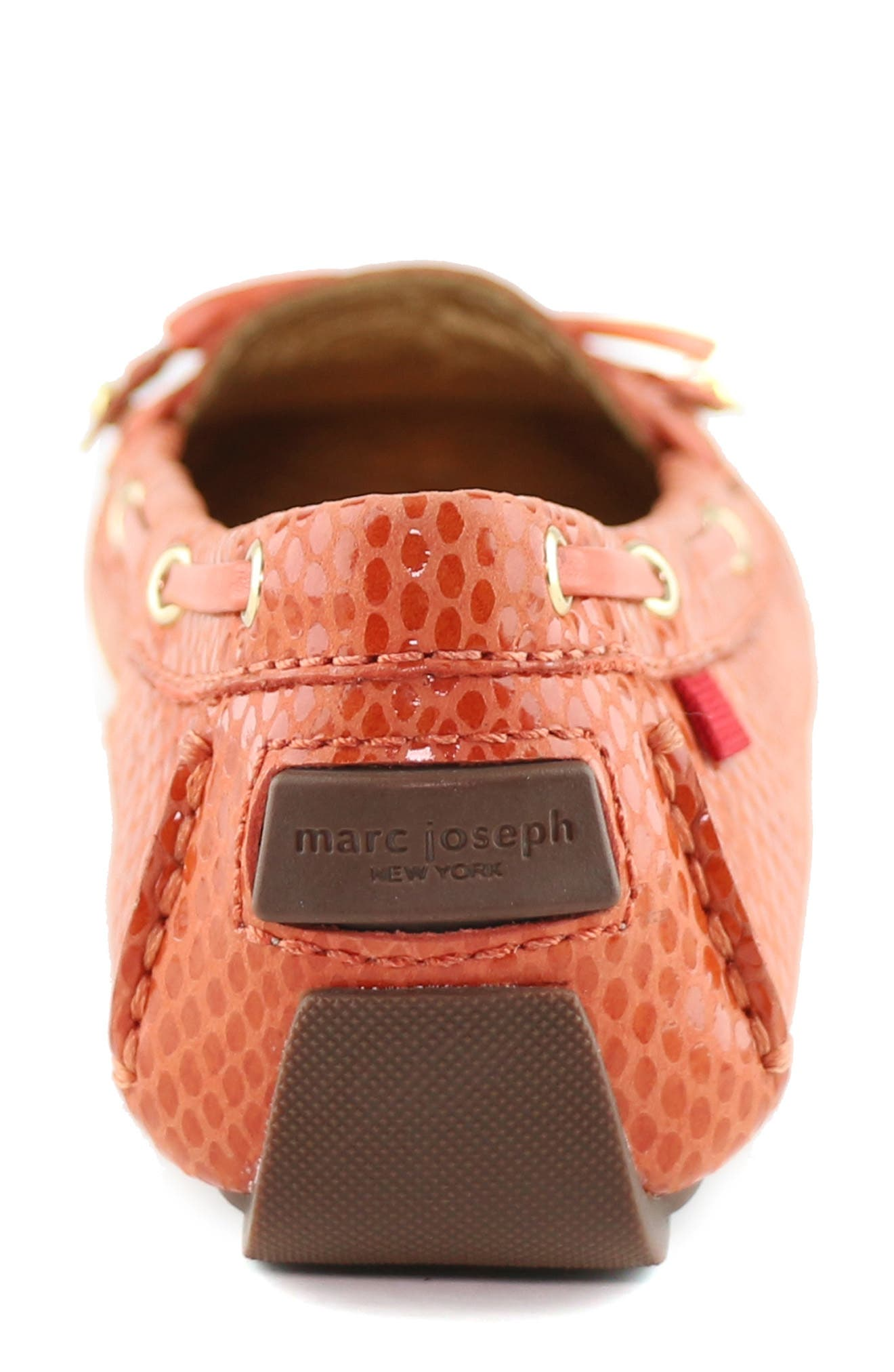 MARC JOSEPH NEW YORK, 'Cypress Hill' Loafer, Alternate thumbnail 7, color, CORAL SNAKE PRINT LEATHER