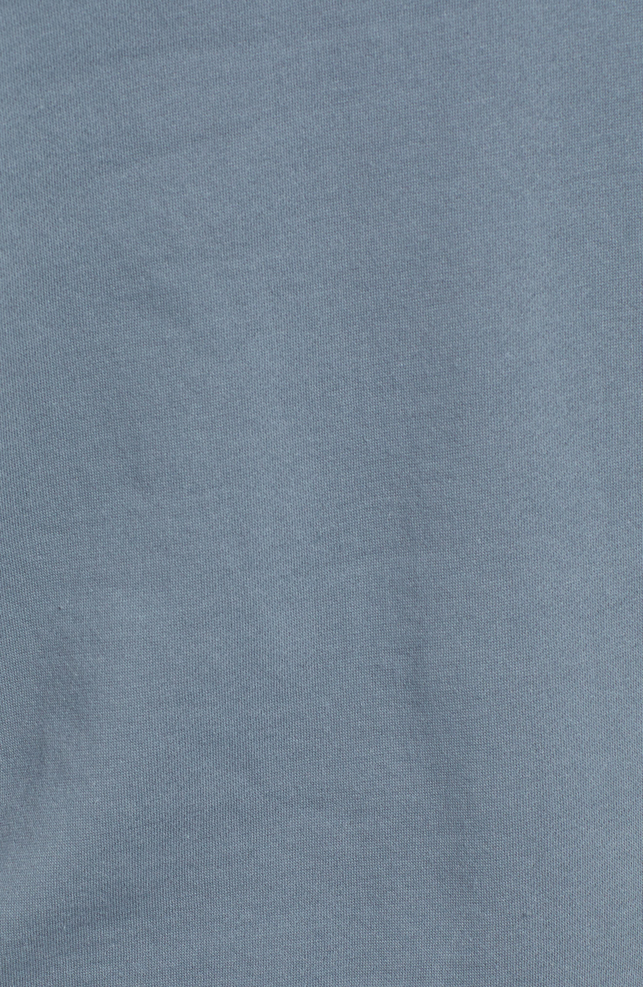 RVCA, Ruddy Hoodie Sweatshirt, Alternate thumbnail 5, color, BLUE SLATE