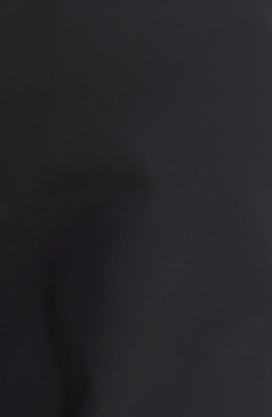NORDSTROM MEN'S SHOP, 'Classic' Smartcare<sup>™</sup> Relaxed Fit Double Pleated Cotton Pants, Alternate thumbnail 8, color, BLACK
