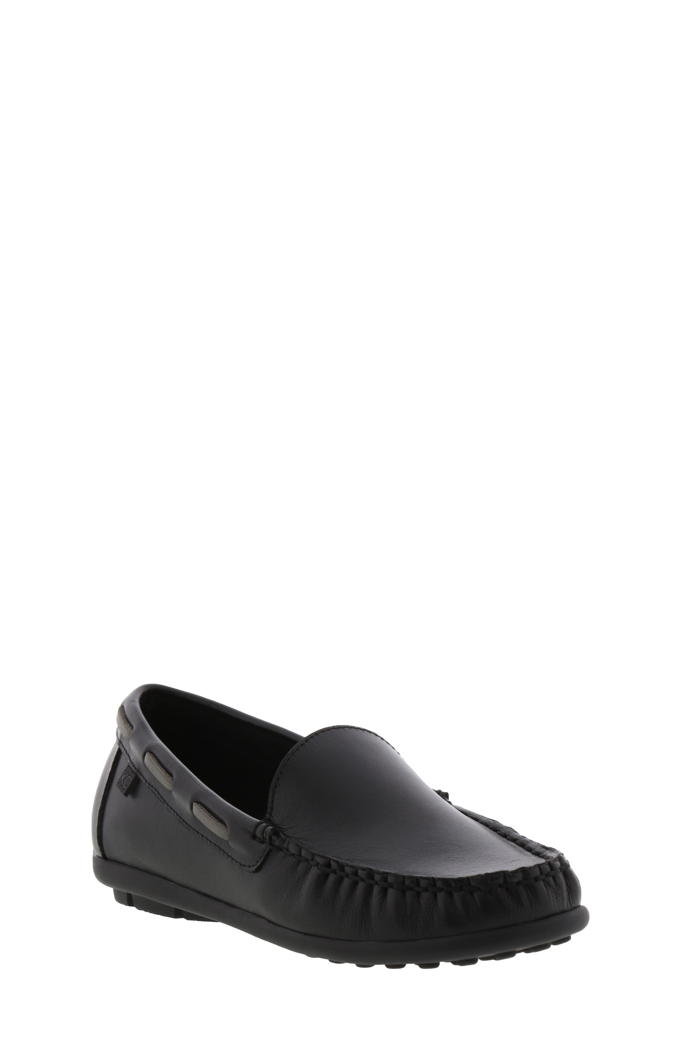REACTION KENNETH COLE Helio Shift Driving Moccasin, Main, color, BLACK SMOOTH