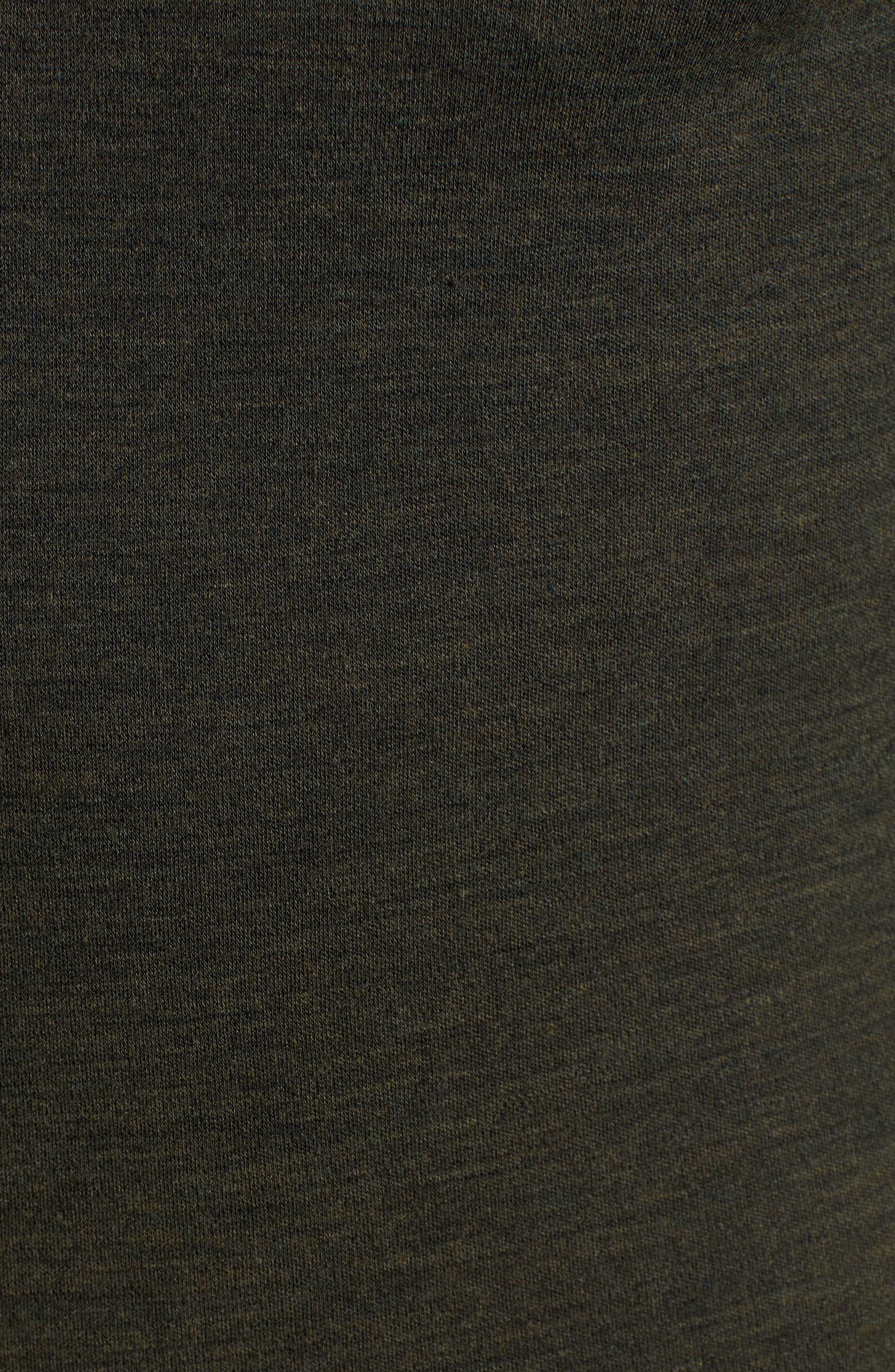 SMARTWOOL, Merino 250 Base Layer Quarter Zip Pullover, Alternate thumbnail 5, color, OLIVE HEATHER