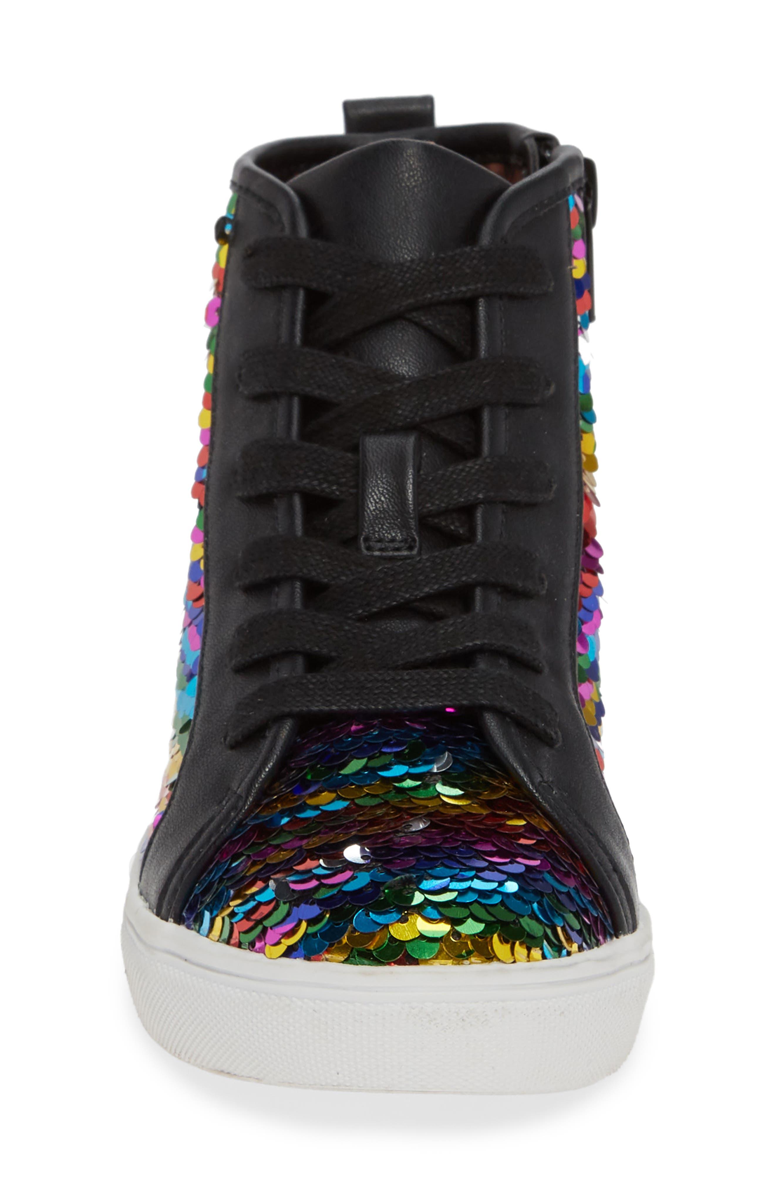 STEVE MADDEN, JSEEKER Sneaker, Alternate thumbnail 4, color, MULTI