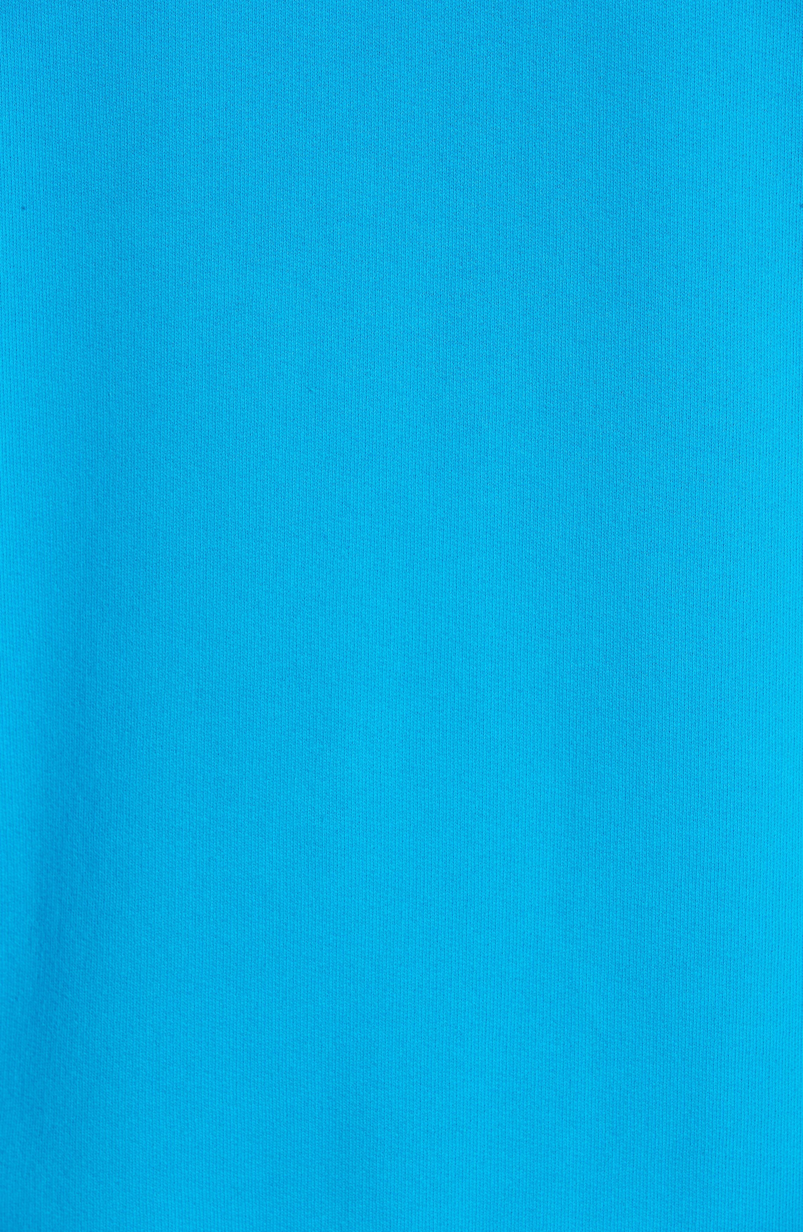 PALM ANGELS, Logo Hoodie, Alternate thumbnail 5, color, LIGHT BLUE