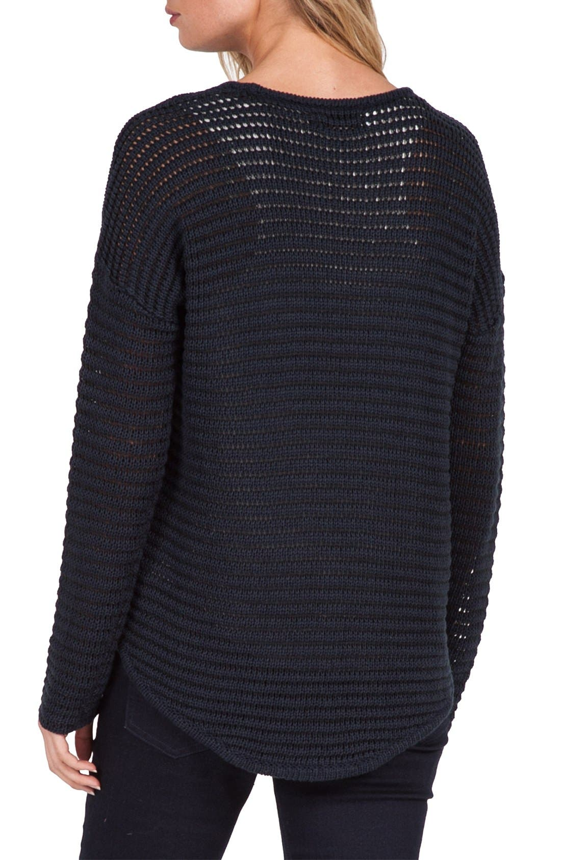 VOLCOM, Hold on Tight Crewneck Pullover, Alternate thumbnail 2, color, 001