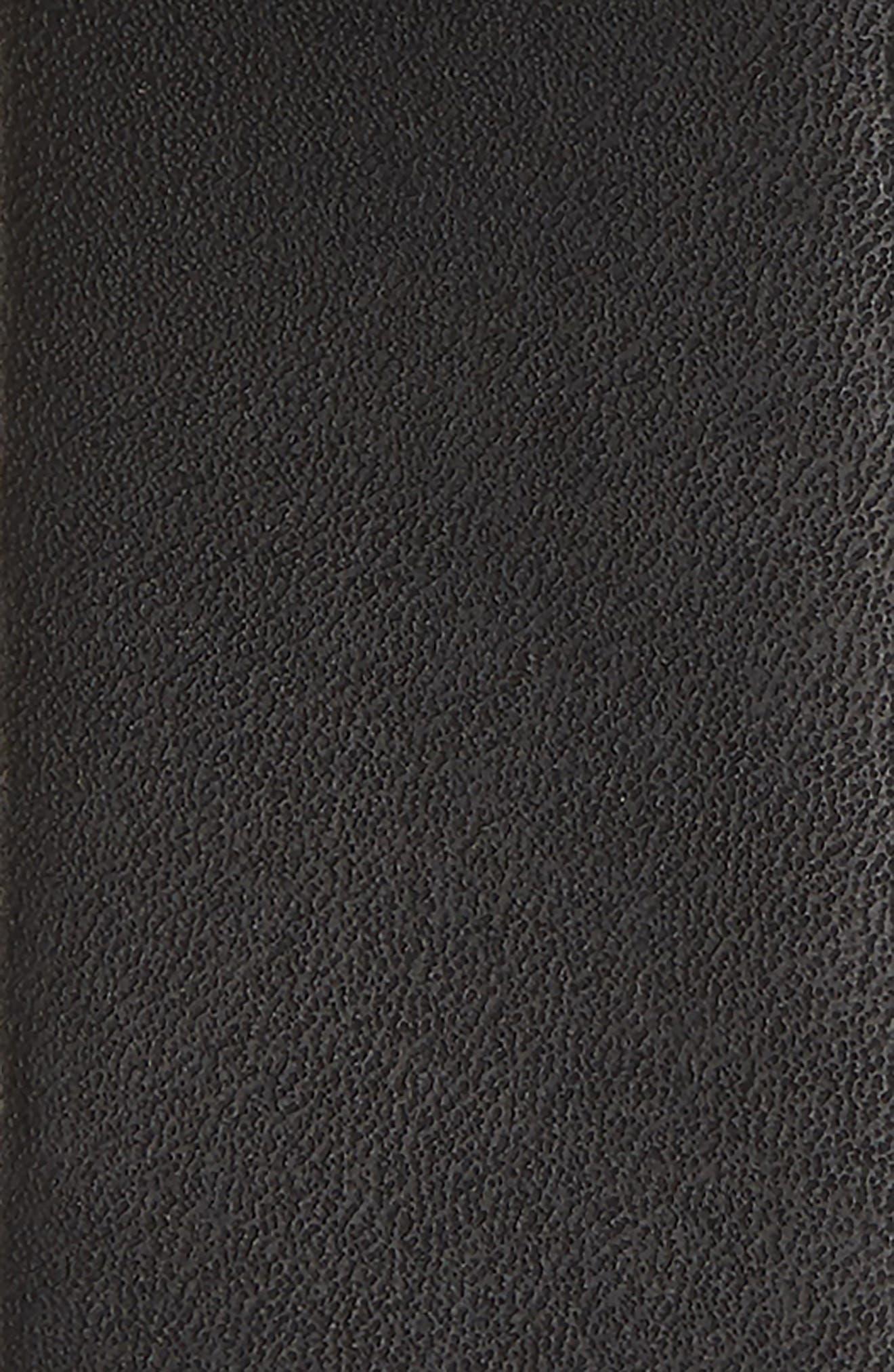 THE RAIL, Monochrome Leather Belt, Alternate thumbnail 2, color, BLACK