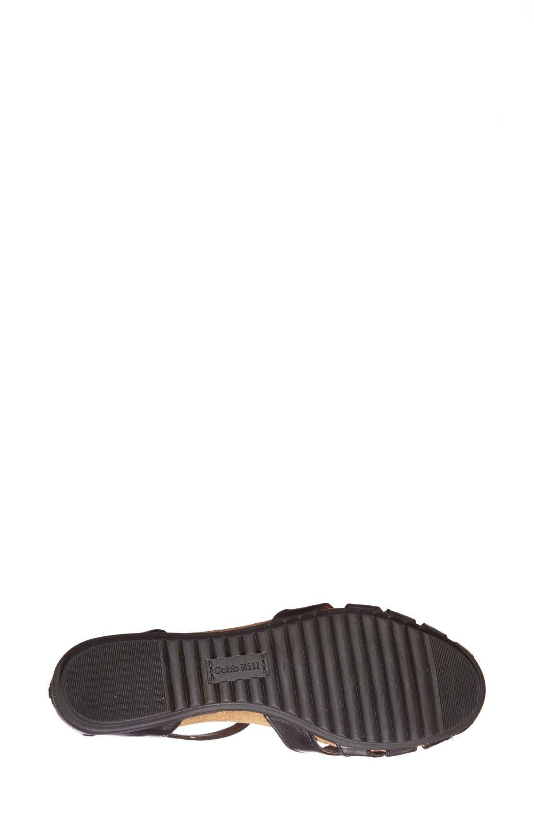 ROCKPORT COBB HILL, 'Ireland' Leather Sandal, Alternate thumbnail 5, color, BLACK
