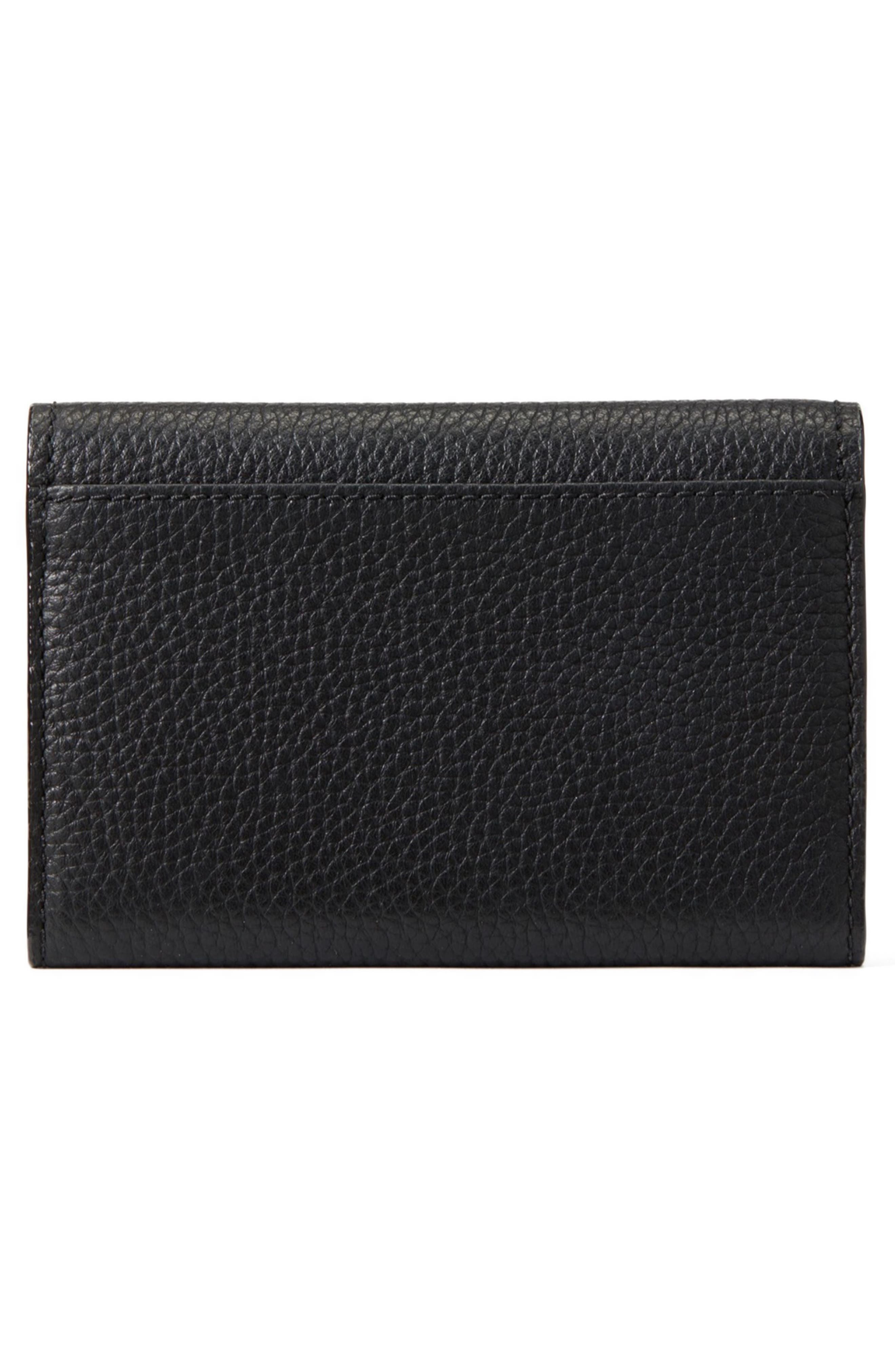 KATE SPADE NEW YORK, jackson street – meredith leather wallet, Alternate thumbnail 4, color, 001