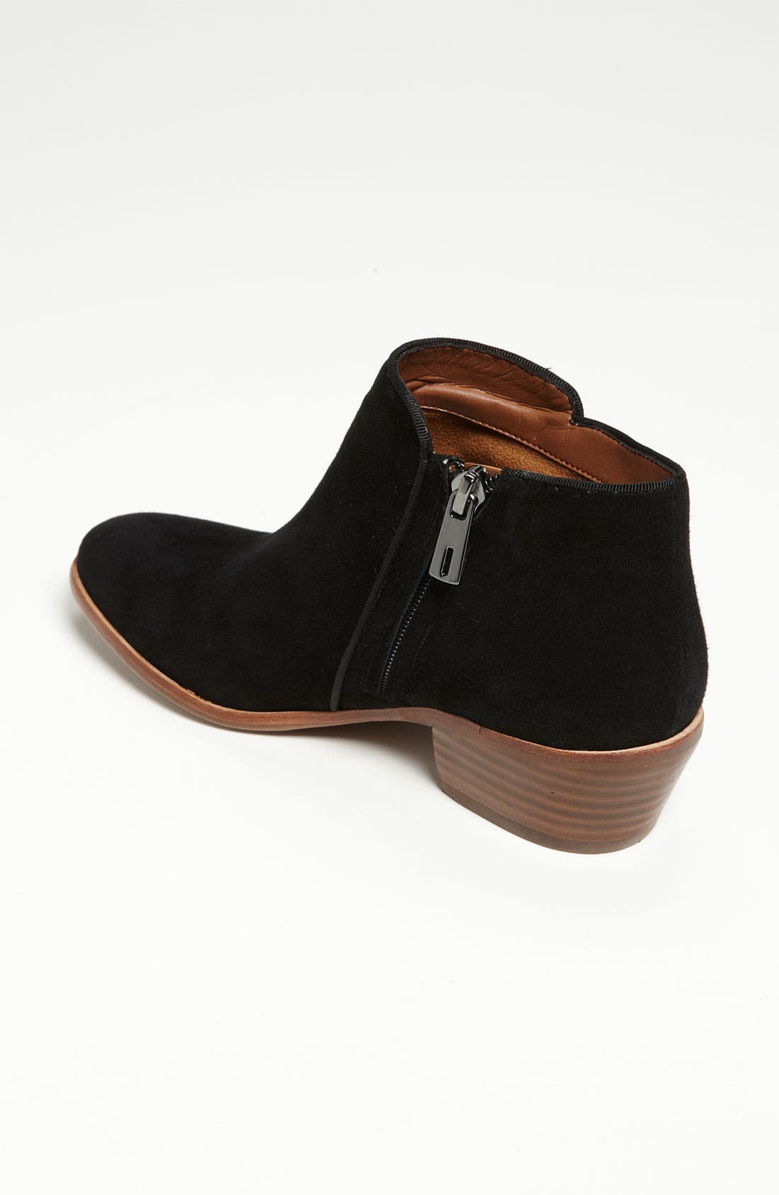 SAM EDELMAN, 'Petty' Chelsea Boot, Alternate thumbnail 6, color, BLACK SUEDE