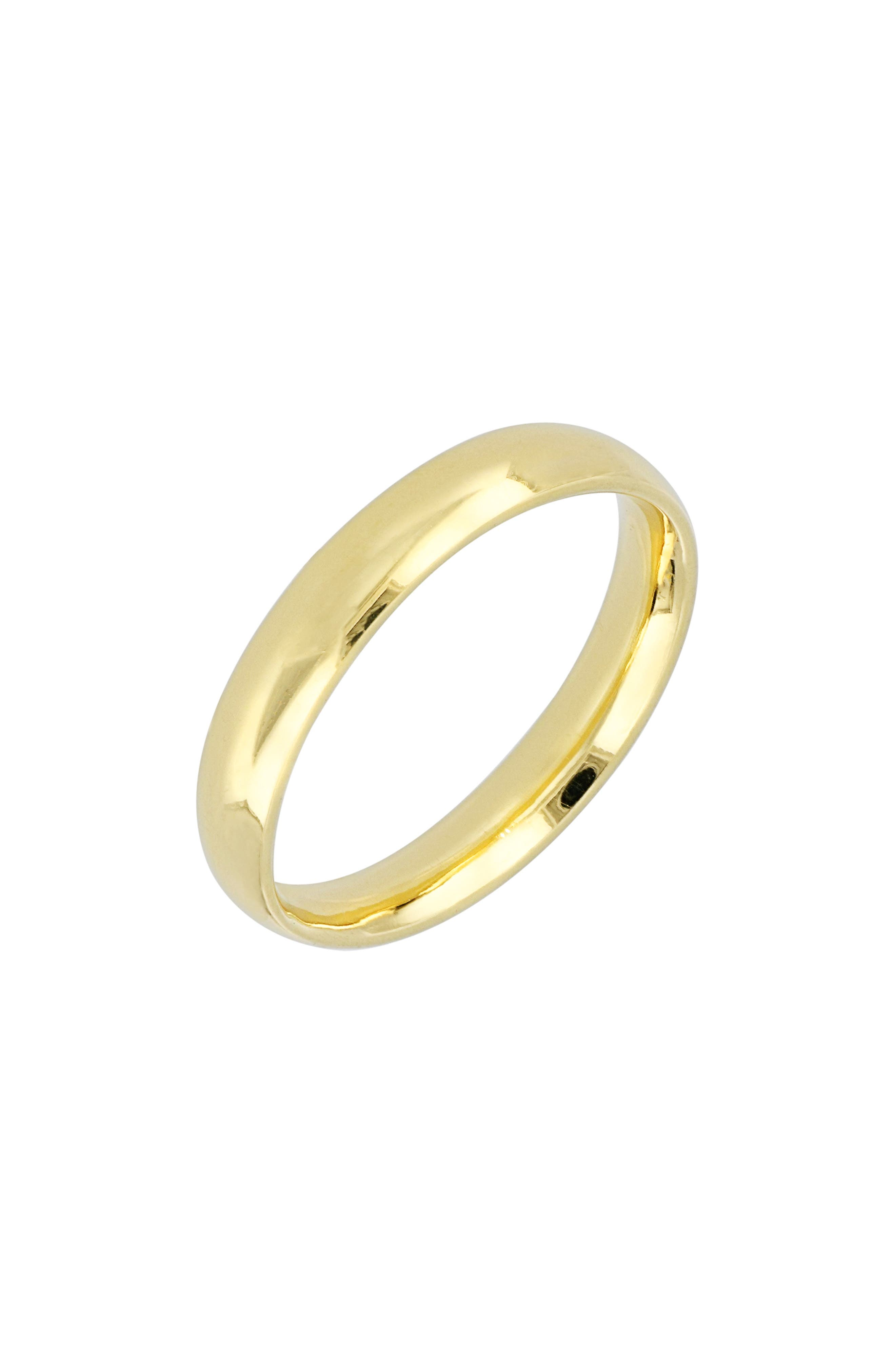 BONY LEVY Wedding Band Ring, 3.8mm, Main, color, YELLOW GOLD