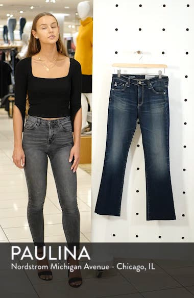 Jodi Raw Hem Crop Flare Jeans, sales video thumbnail