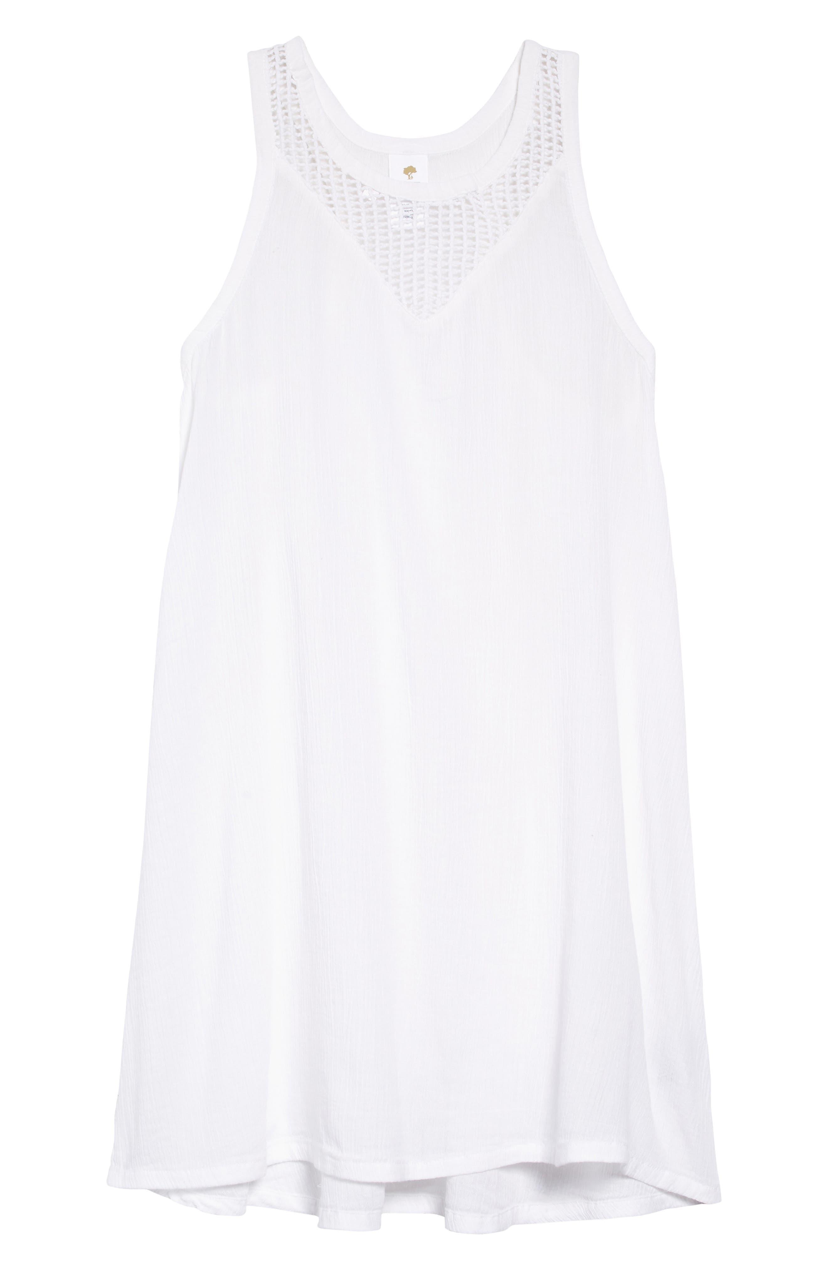 TUCKER + TATE, Cover-Up Dress, Main thumbnail 1, color, WHITE